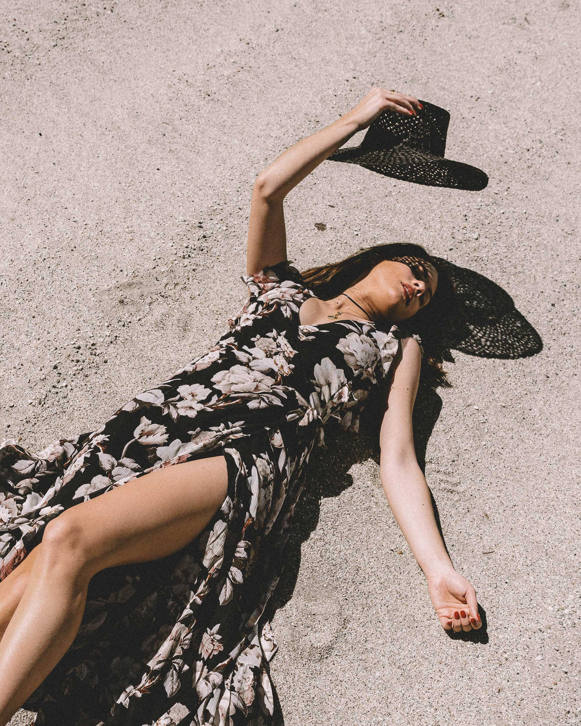 Sarah Butler of Sarah Styles Seattle wears Paige Maquel Silk Floral Maxi Wrap Dress in Palm Springs for Coachella Festival Outfit | @sarahchristine, Seattle Blogger5.jpg