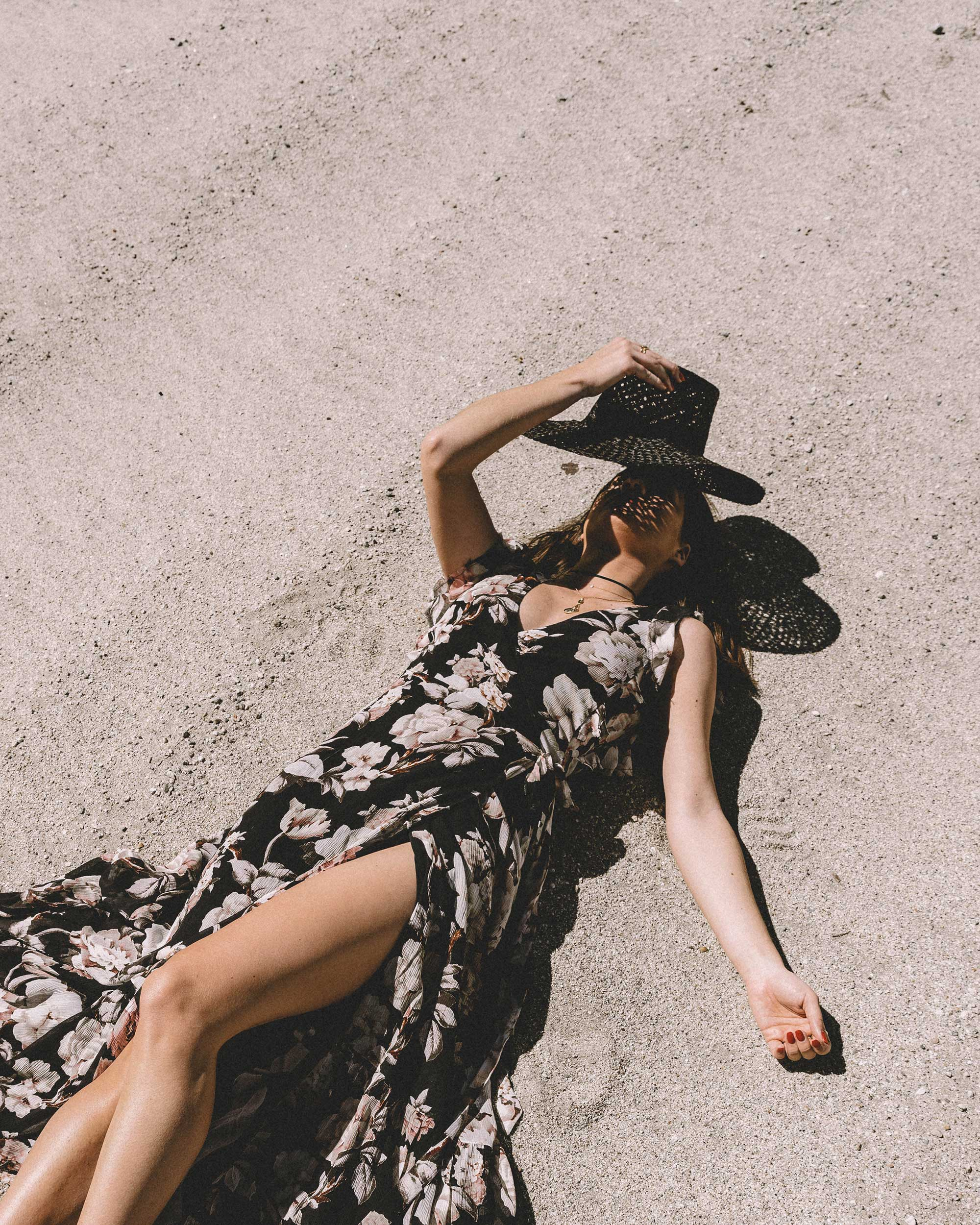 Sarah Butler of Sarah Styles Seattle wears Paige Maquel Silk Floral Maxi Wrap Dress in Palm Springs for Coachella Festival Outfit | @sarahchristine, Seattle Blogger4.jpg