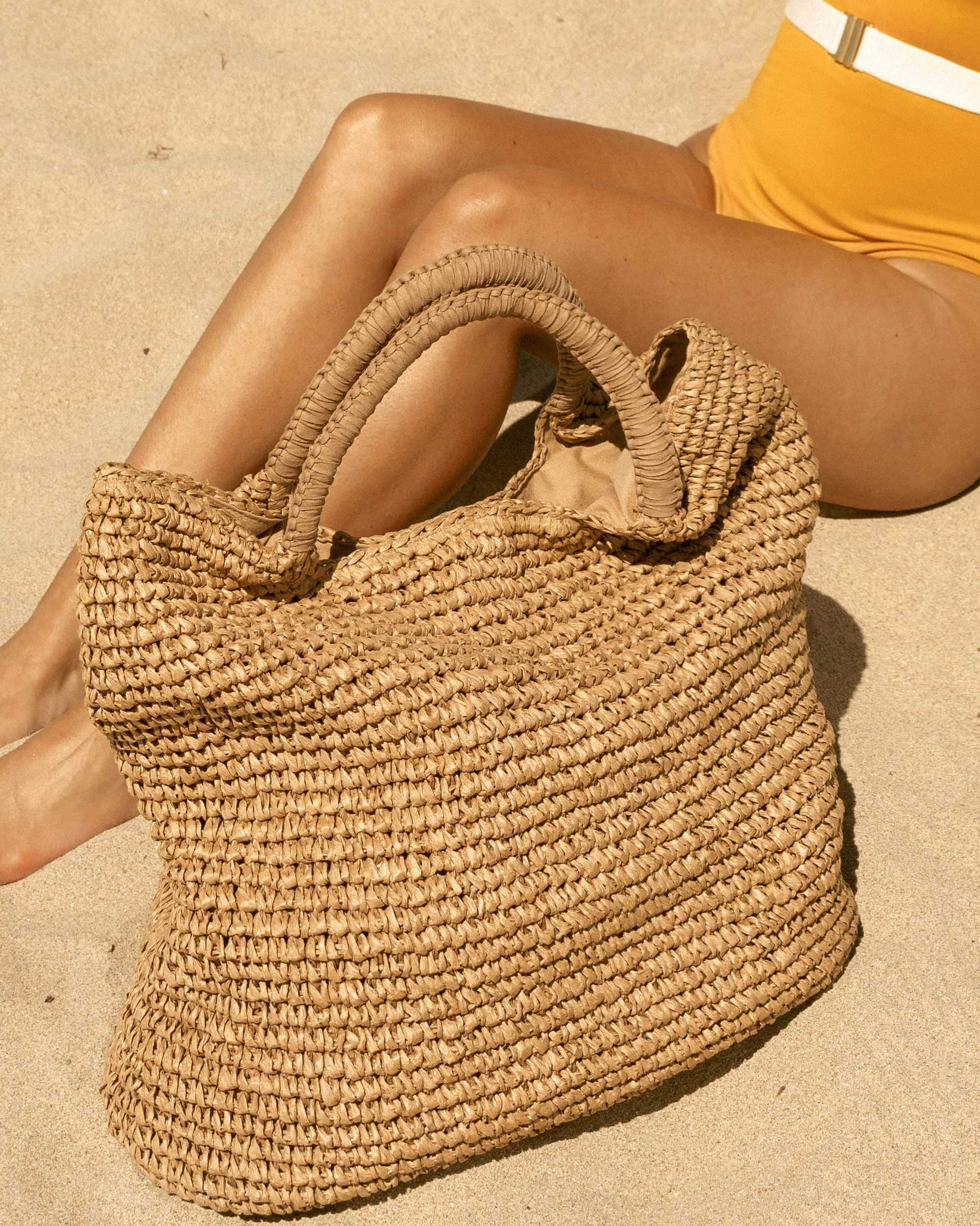 Fallon & Royce Mel Straw Oversize Straw Tote Beach Bag in Newport Beach, California for the perfect beach outfit.jpg