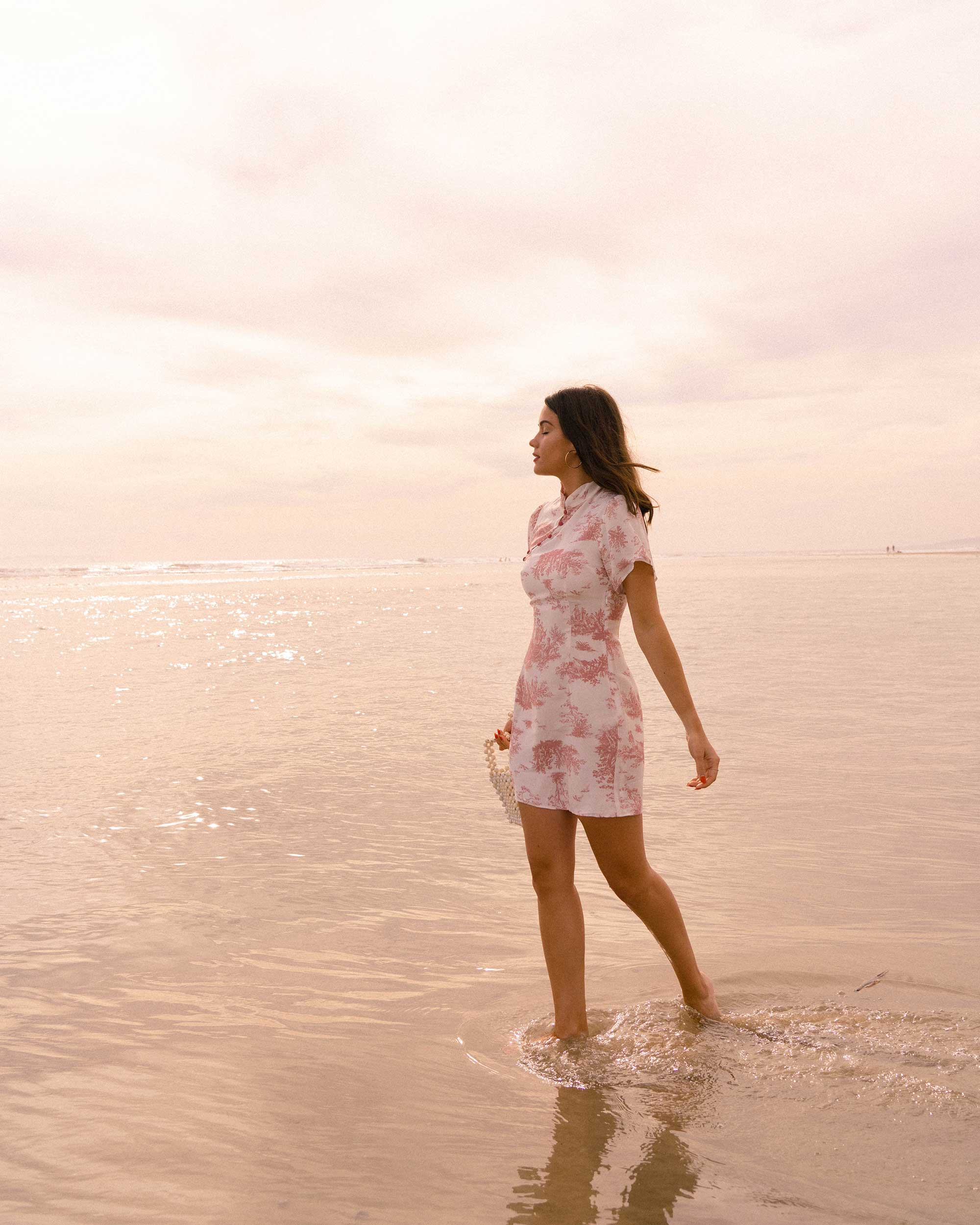 Sarah Butler of Sarah Styles Seattle wears Stone Cold Fox Lure Pink Toile Print Mini Dress in Newport Beach, California for the perfect spring outfit | @sarahchristine -8.jpg