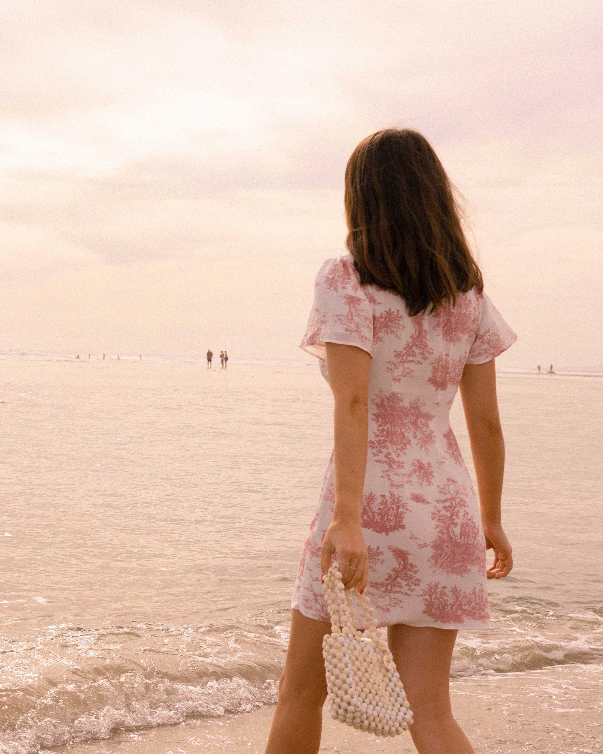 Sarah Butler of Sarah Styles Seattle wears Stone Cold Fox Lure Pink Toile Print Mini Dress in Newport Beach, California for the perfect spring outfit | @sarahchristine -9.jpg