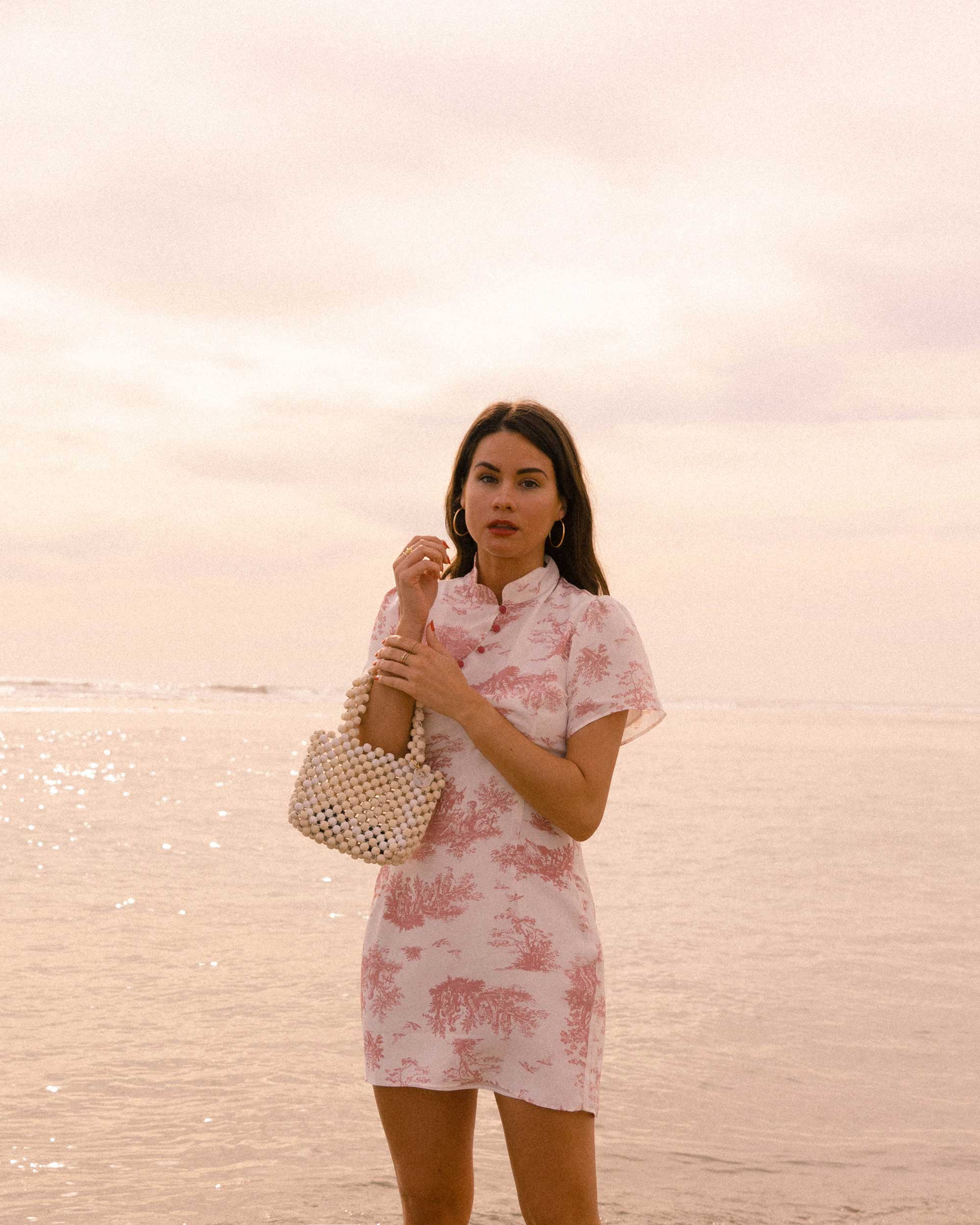 Sarah Butler of Sarah Styles Seattle wears Stone Cold Fox Lure Pink Toile Print Mini Dress in Newport Beach, California for the perfect spring outfit | @sarahchristine -5.jpg