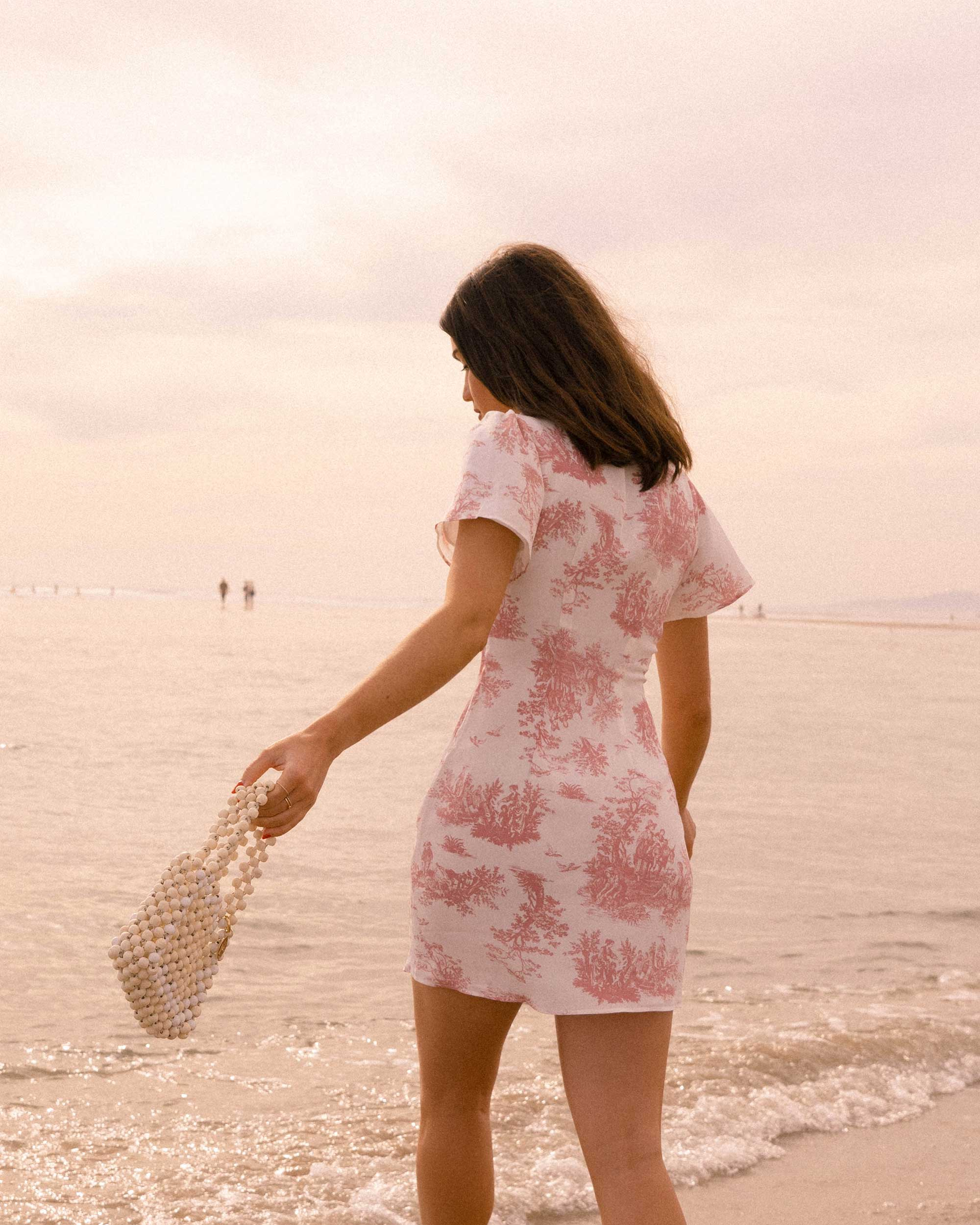 Sarah Butler of Sarah Styles Seattle wears Stone Cold Fox Lure Pink Toile Print Mini Dress in Newport Beach, California for the perfect spring outfit | @sarahchristine -10.jpg