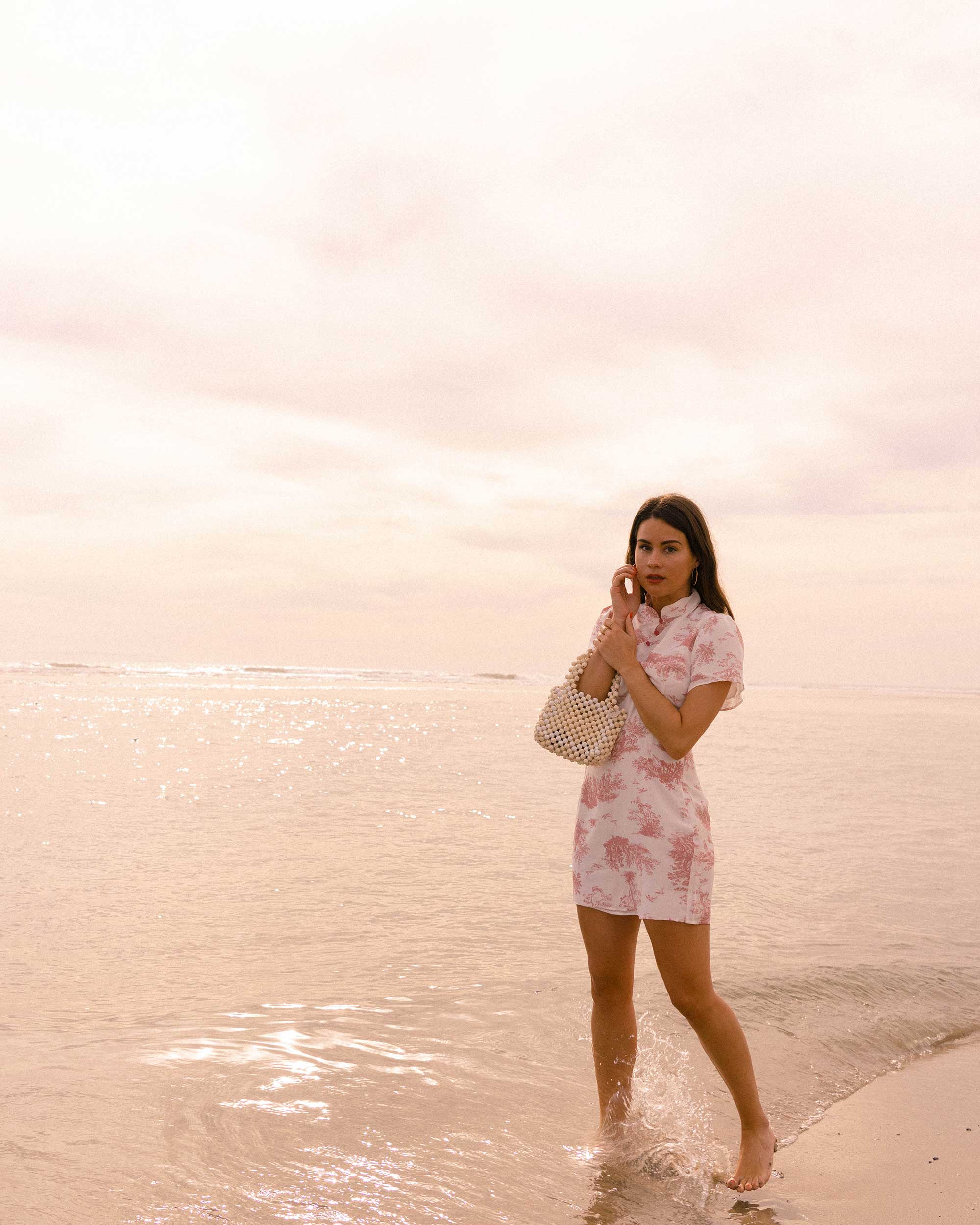 Sarah Butler of Sarah Styles Seattle wears Stone Cold Fox Lure Pink Toile Print Mini Dress in Newport Beach, California for the perfect spring outfit | @sarahchristine -7.jpg