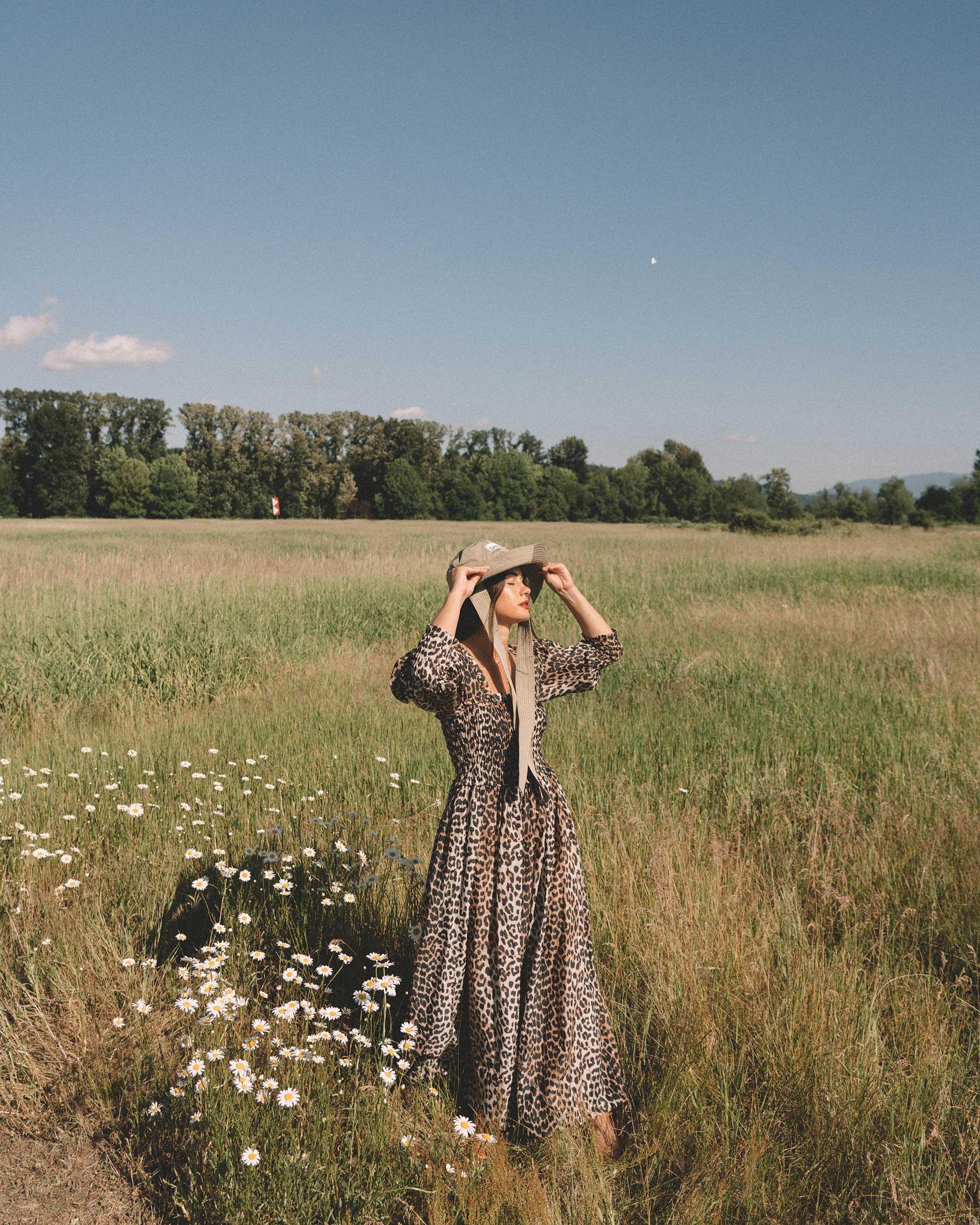 Sarah Butler of Sarah Styles wears GANNI Leopard-print Maxi Dress and GANNI wide brim hat in Seattle, Washington Feild | @sarahchristine --2.jpg