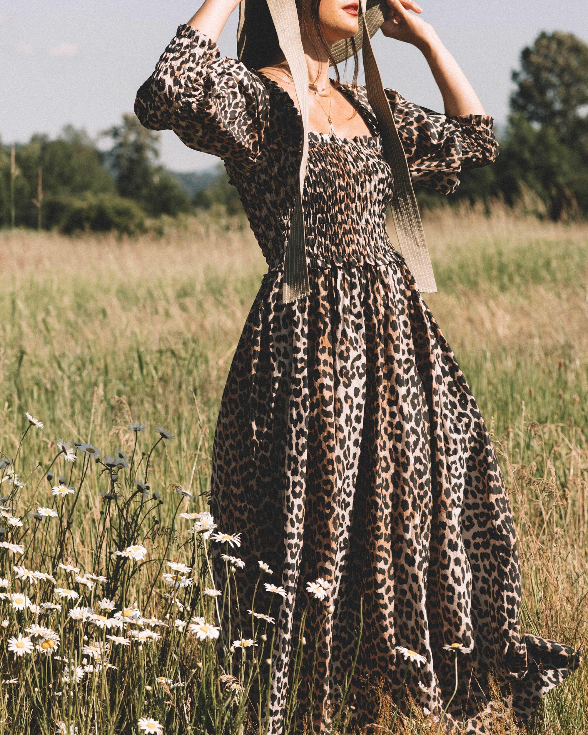 Sarah Butler of Sarah Styles wears GANNI Leopard-print Maxi Dress and GANNI wide brim hat in Seattle, Washington Feild | @sarahchristine --6.jpg