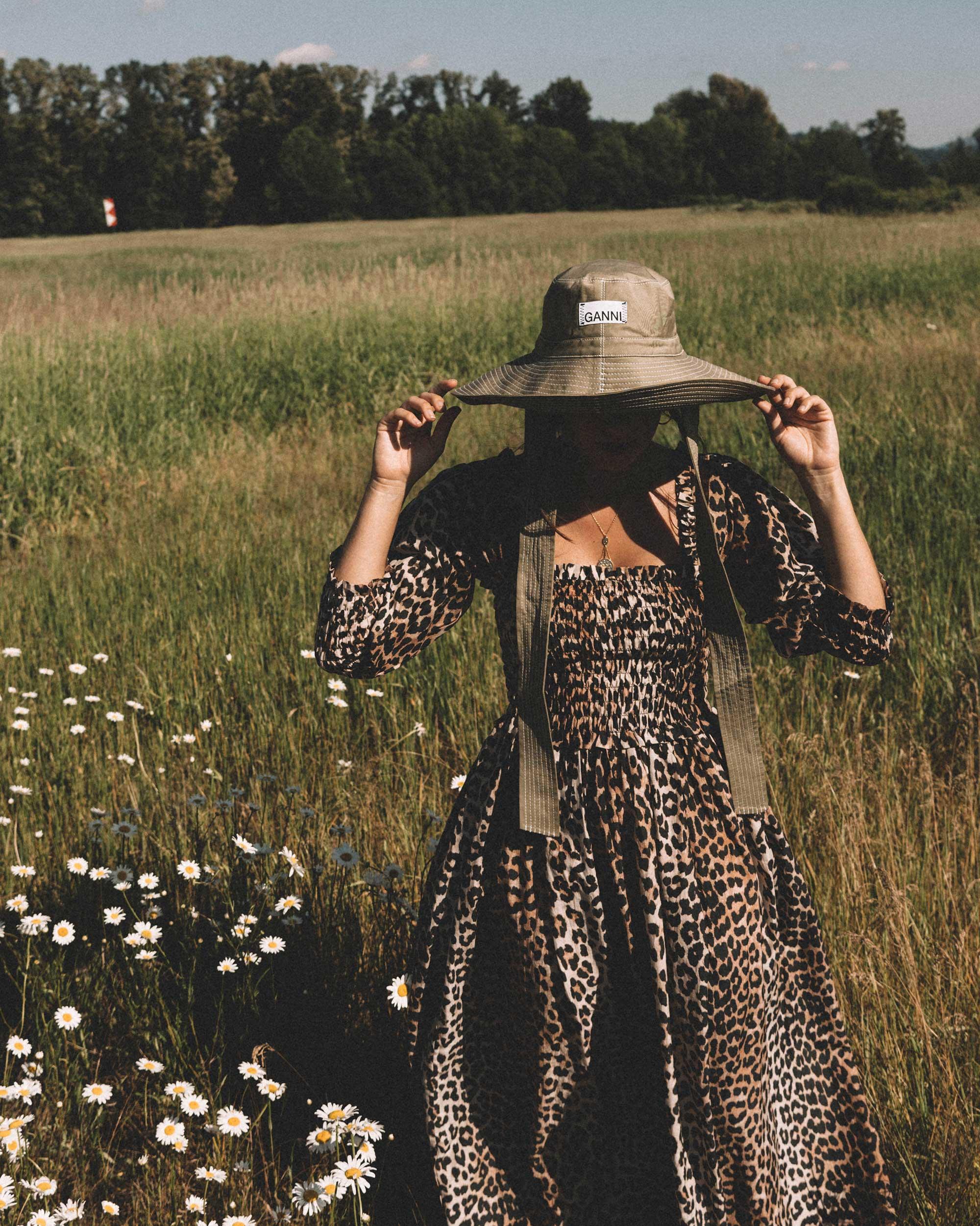 Sarah Butler of Sarah Styles wears GANNI Leopard-print Maxi Dress and GANNI wide brim hat in Seattle, Washington Feild | @sarahchristine --8.jpg