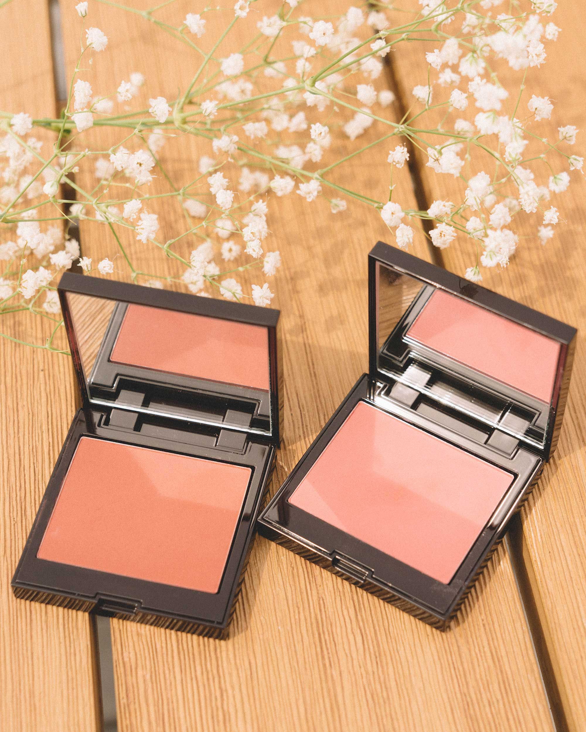 Blush Colour Infusion - Laura Mercier Blush Colour Infusion in Strawberry (left) & Rose (right) for the perfect summer flush