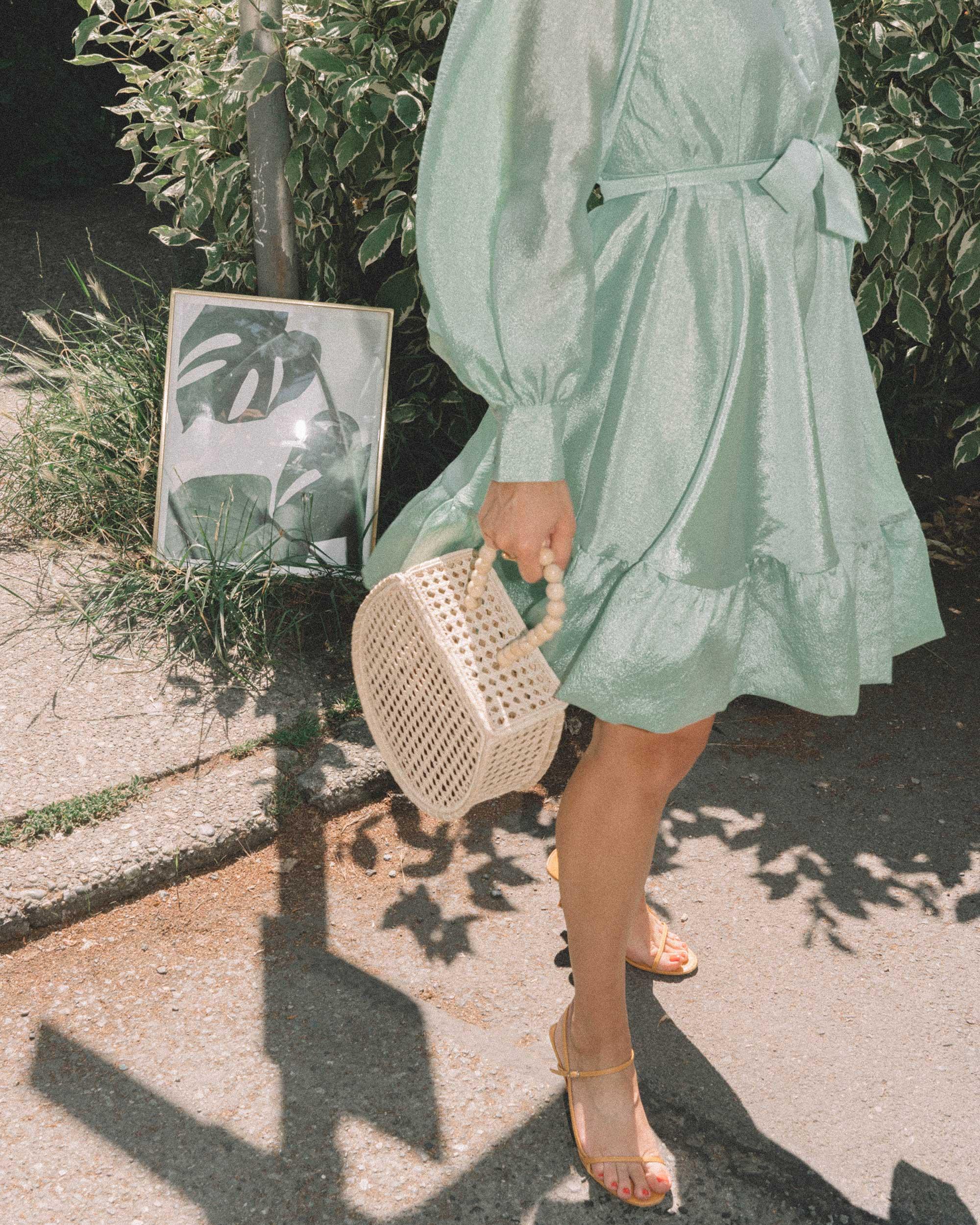 STINE GOYA Farrow Crepe Blouson Sleeve Dress in jade green satin crepe - 18.jpg