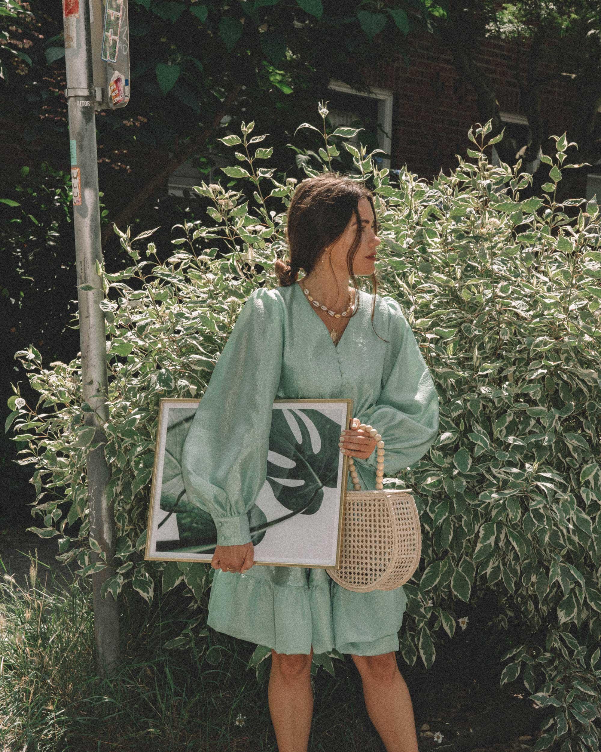 STINE GOYA Farrow Crepe Blouson Sleeve Dress in jade green satin crepe - 10.jpg