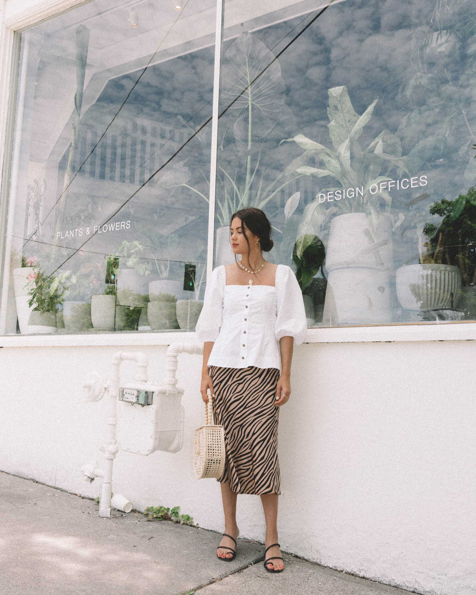 Sarah Butler of Sarah Styles Seattle  wearing GANNI Puff Sleeve Top and leopard skirt in Seattle  | @sarahchristine - 12.jpg