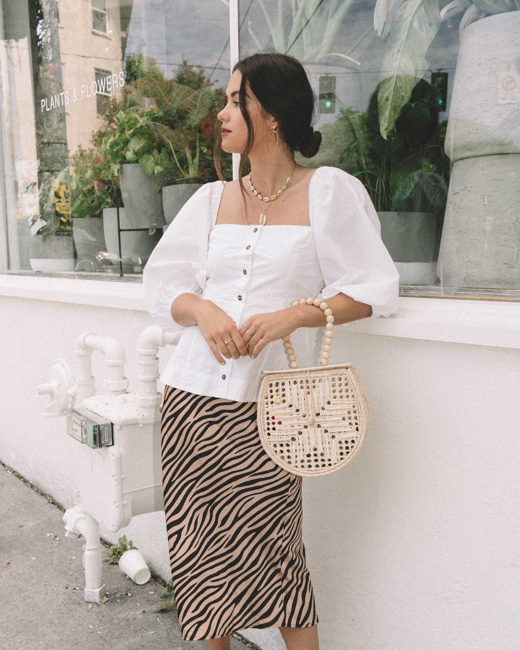 Sarah Butler of Sarah Styles Seattle  wearing GANNI Puff Sleeve Top and leopard skirt in Seattle  | @sarahchristine - 2.jpg