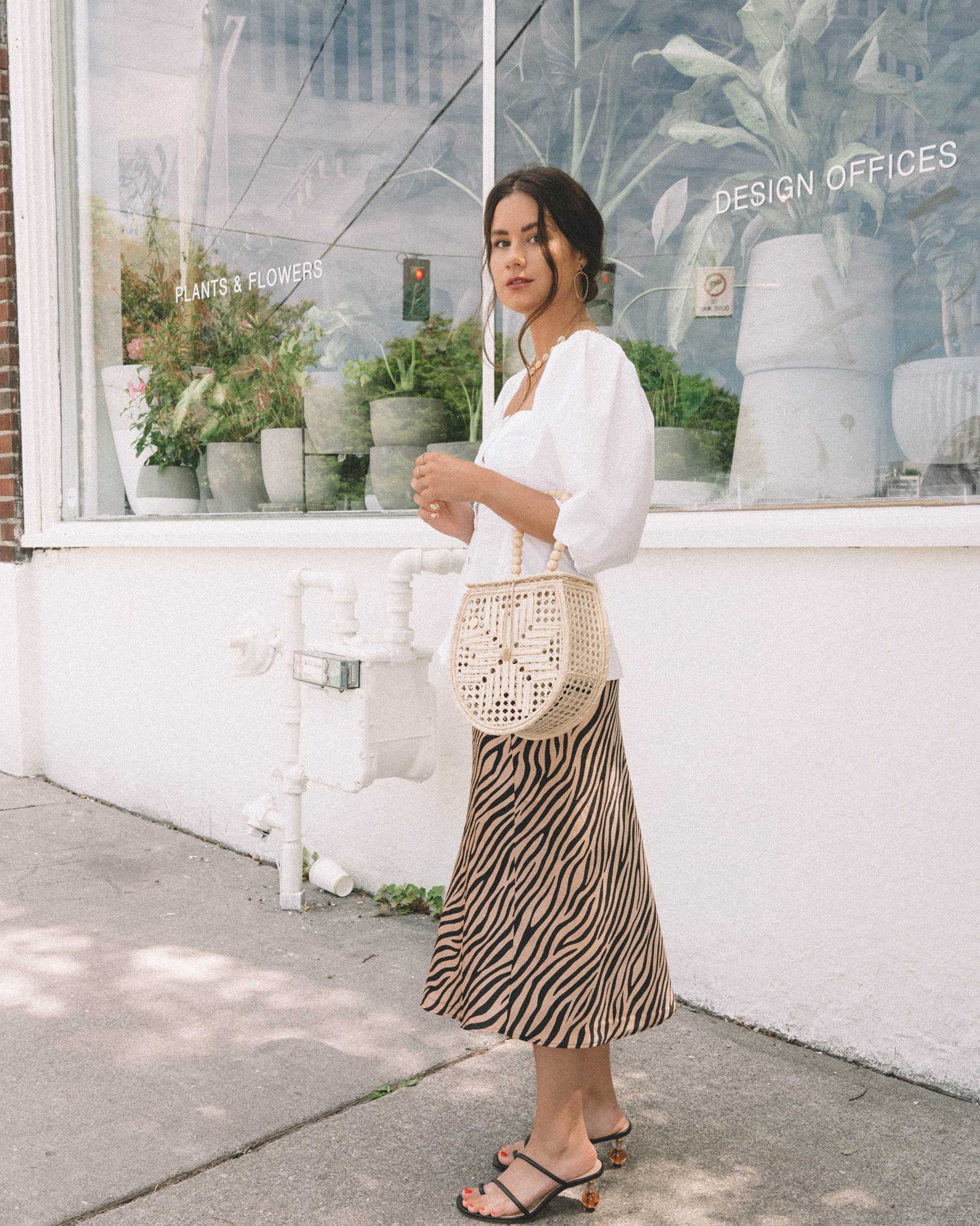 Sarah Butler of Sarah Styles Seattle  wearing GANNI Puff Sleeve Top and leopard skirt in Seattle  | @sarahchristine - 13.jpg