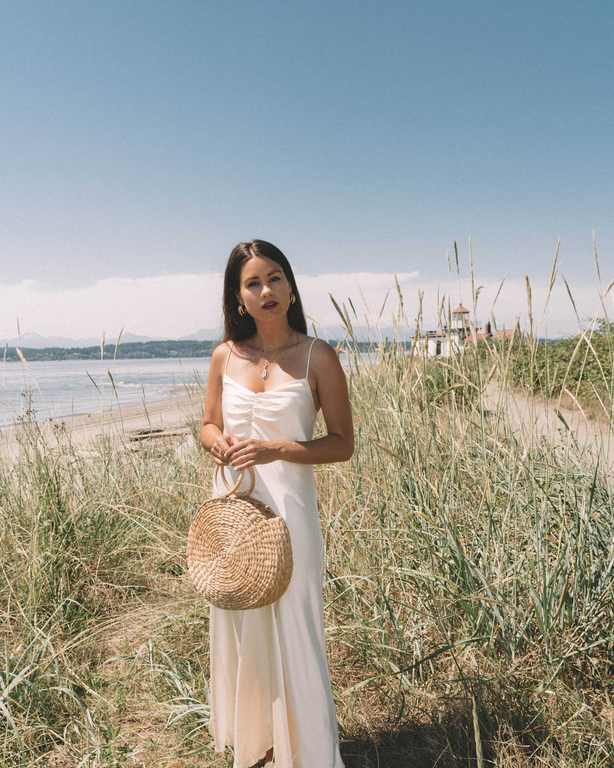 Sarah Butler of Sarah Styles Seattle  wearing C:MEO COLLECTIVE Polarised Silk Midi Dress at Discovery Park, Seattle Washington | @sarahchristine -1.jpg