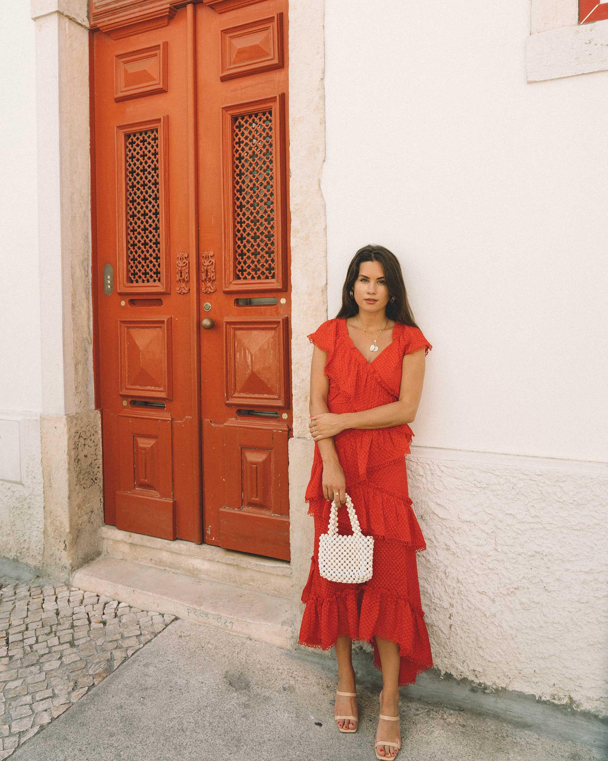 Sarah Butler of Sarah Styles Seattle wears THREE FLOOR Rouge tiered midi dress in Lisbon, Portugal | @sarahchristine 4.jpg