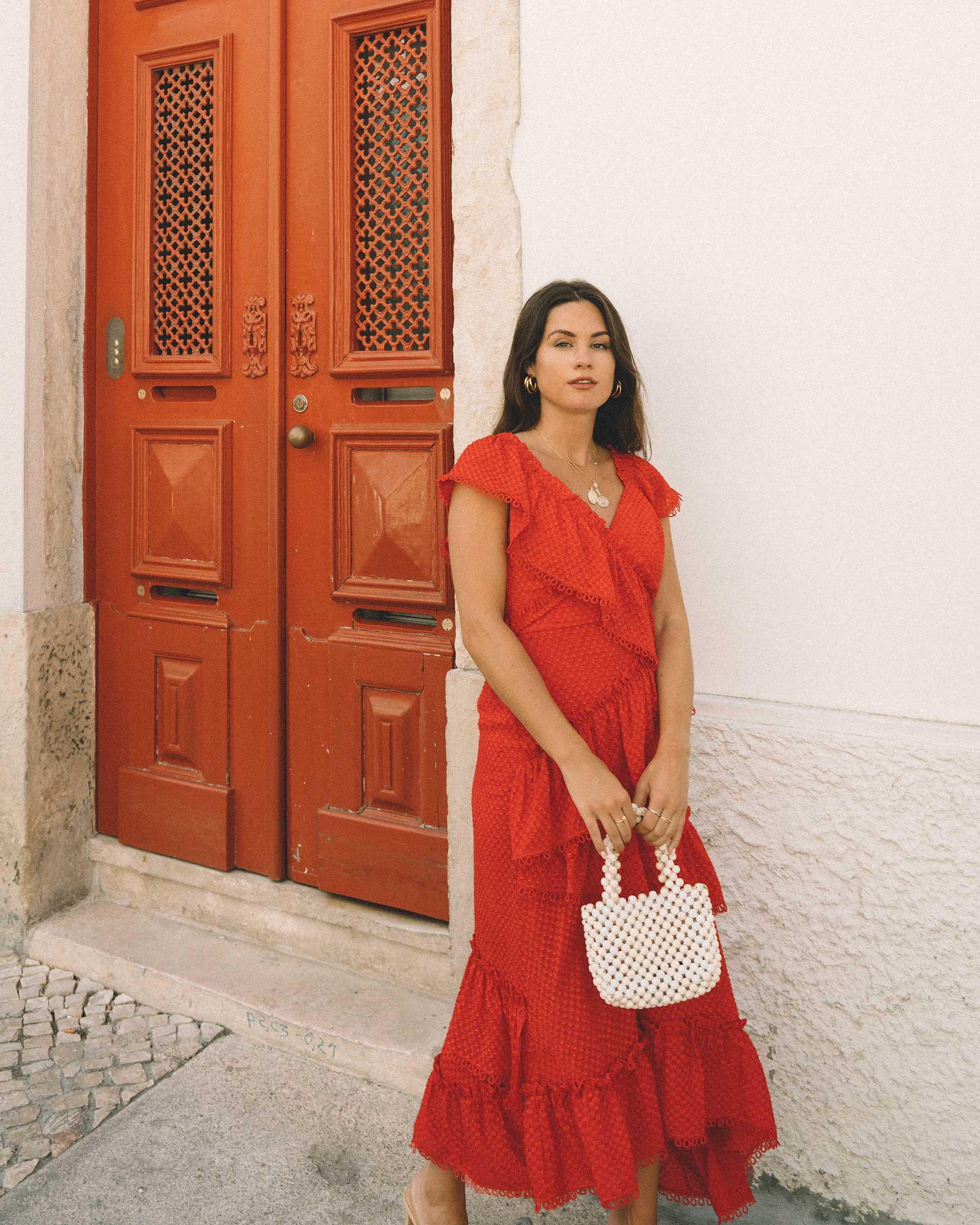 Sarah Butler of Sarah Styles Seattle wears THREE FLOOR Rouge tiered midi dress in Lisbon, Portugal | @sarahchristine 7.jpg