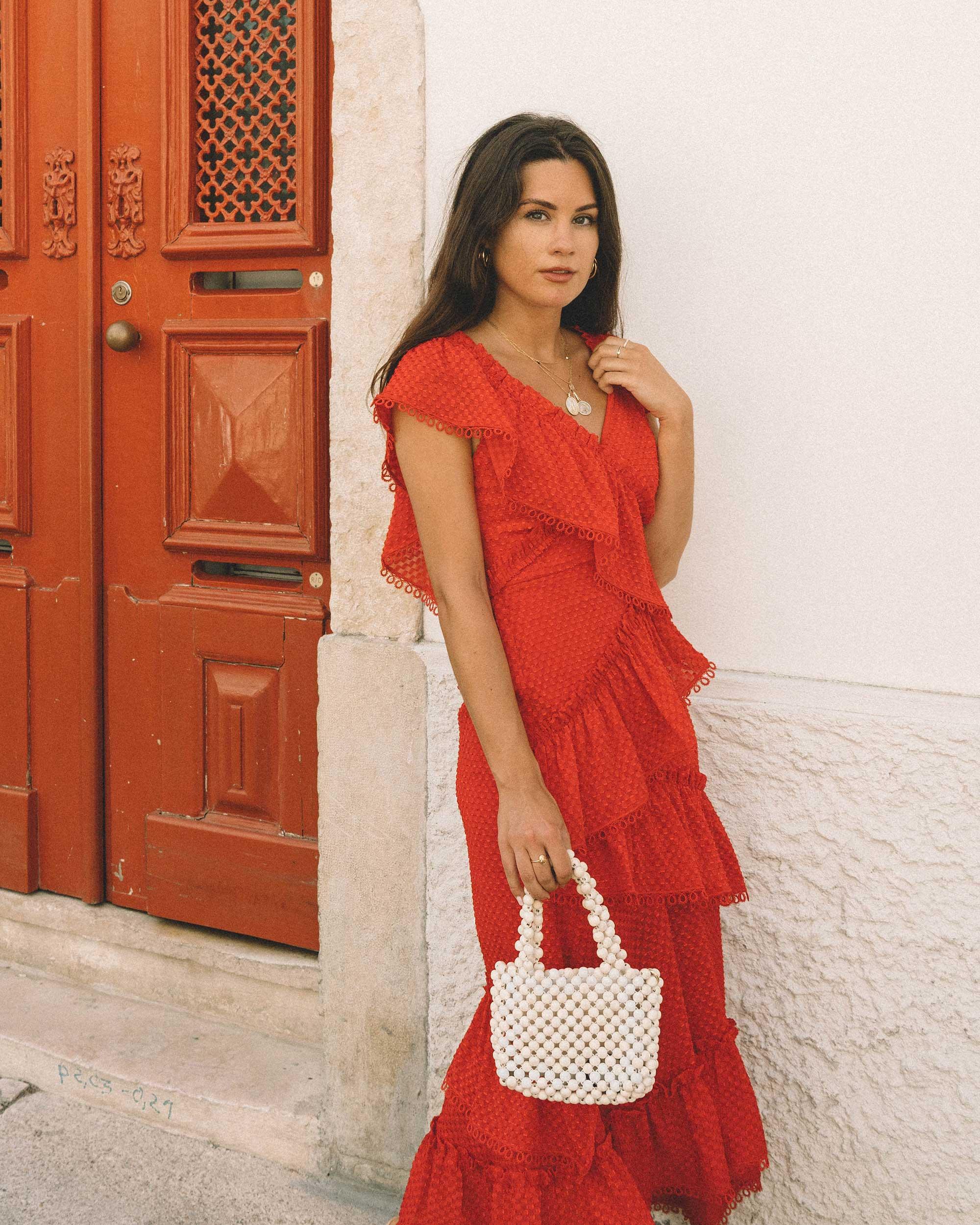 Sarah Butler of Sarah Styles Seattle wears THREE FLOOR Rouge tiered midi dress in Lisbon, Portugal | @sarahchristine 2.jpg