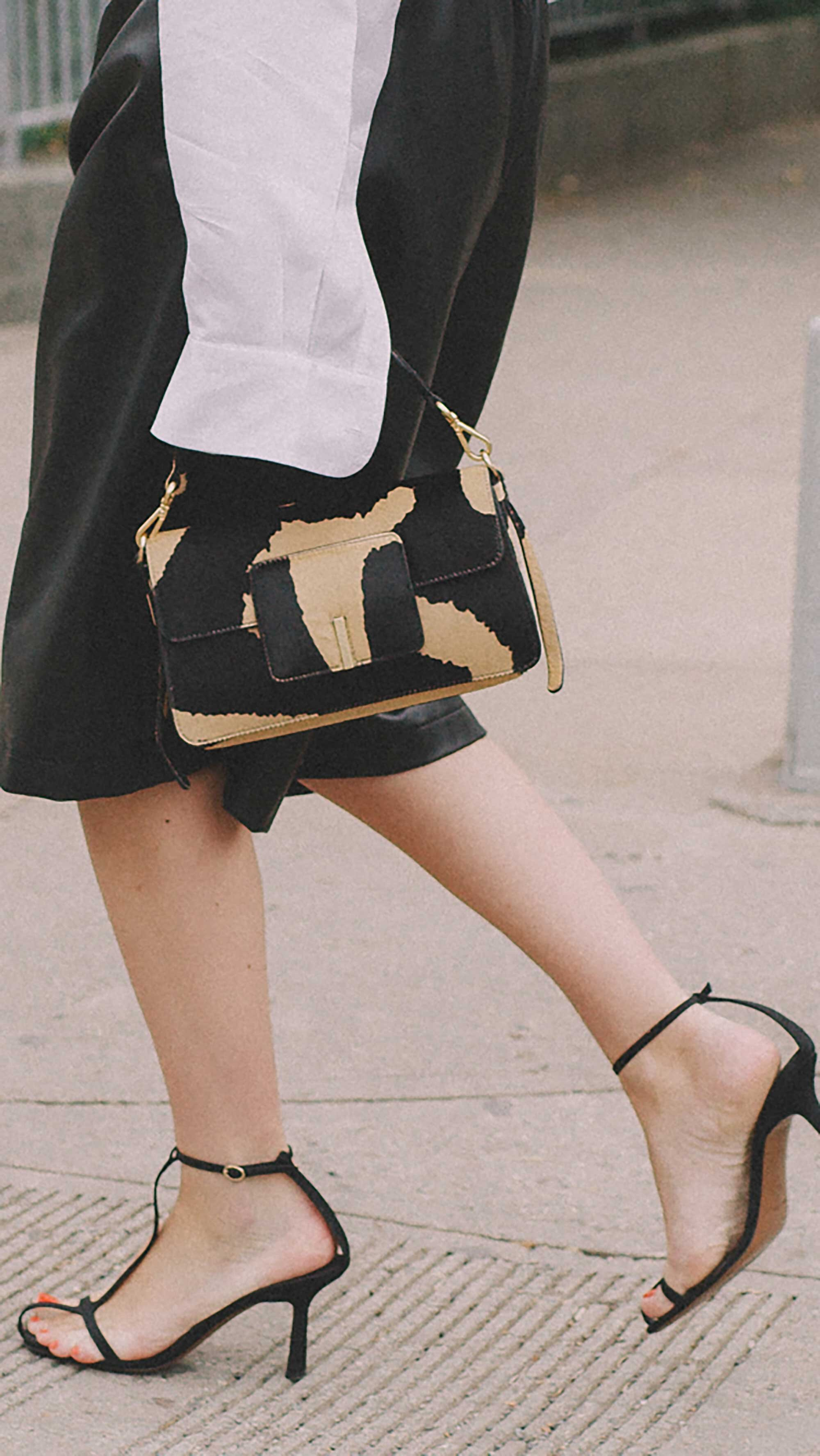 13. Wandler - Georgia leather-trimmed calf hair shoulder bag