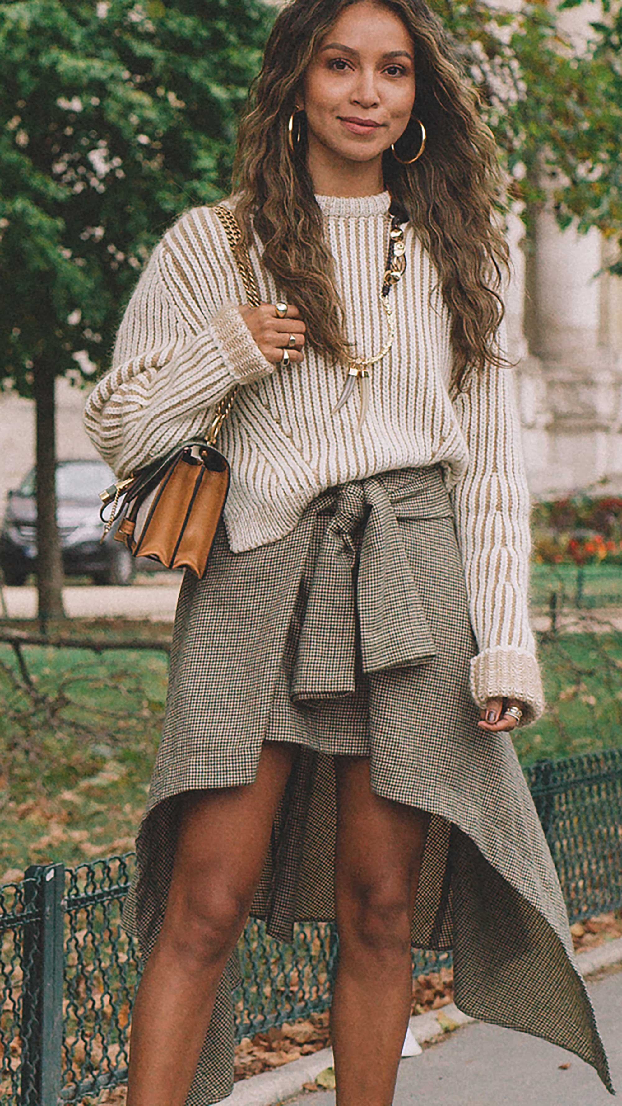 3. Chloe - Ribbed two-tone wool-blend sweater