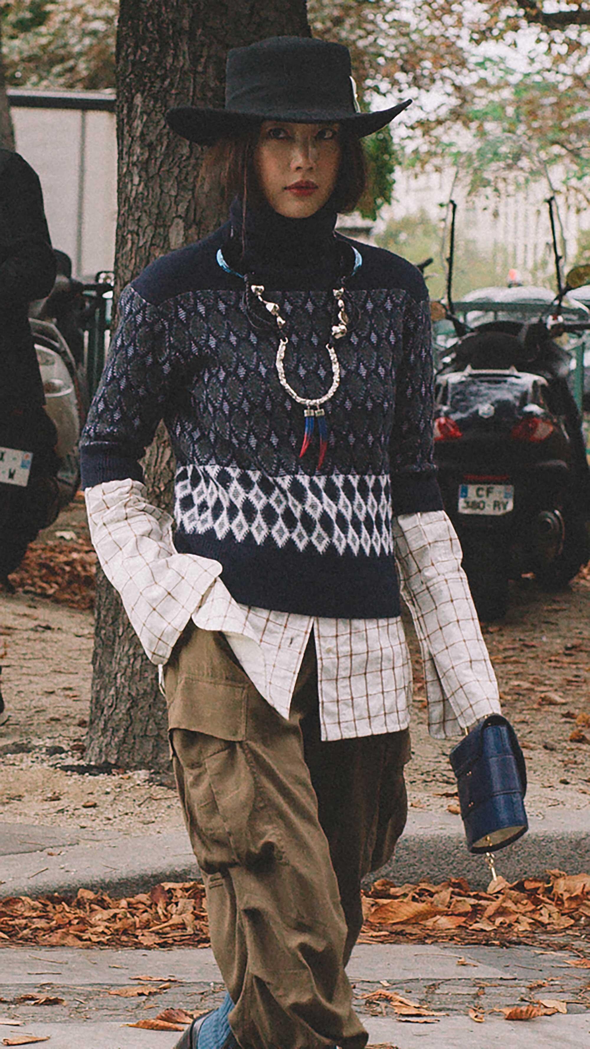 13. Chloe - Intarsia merino wool-blend turtleneck sweater