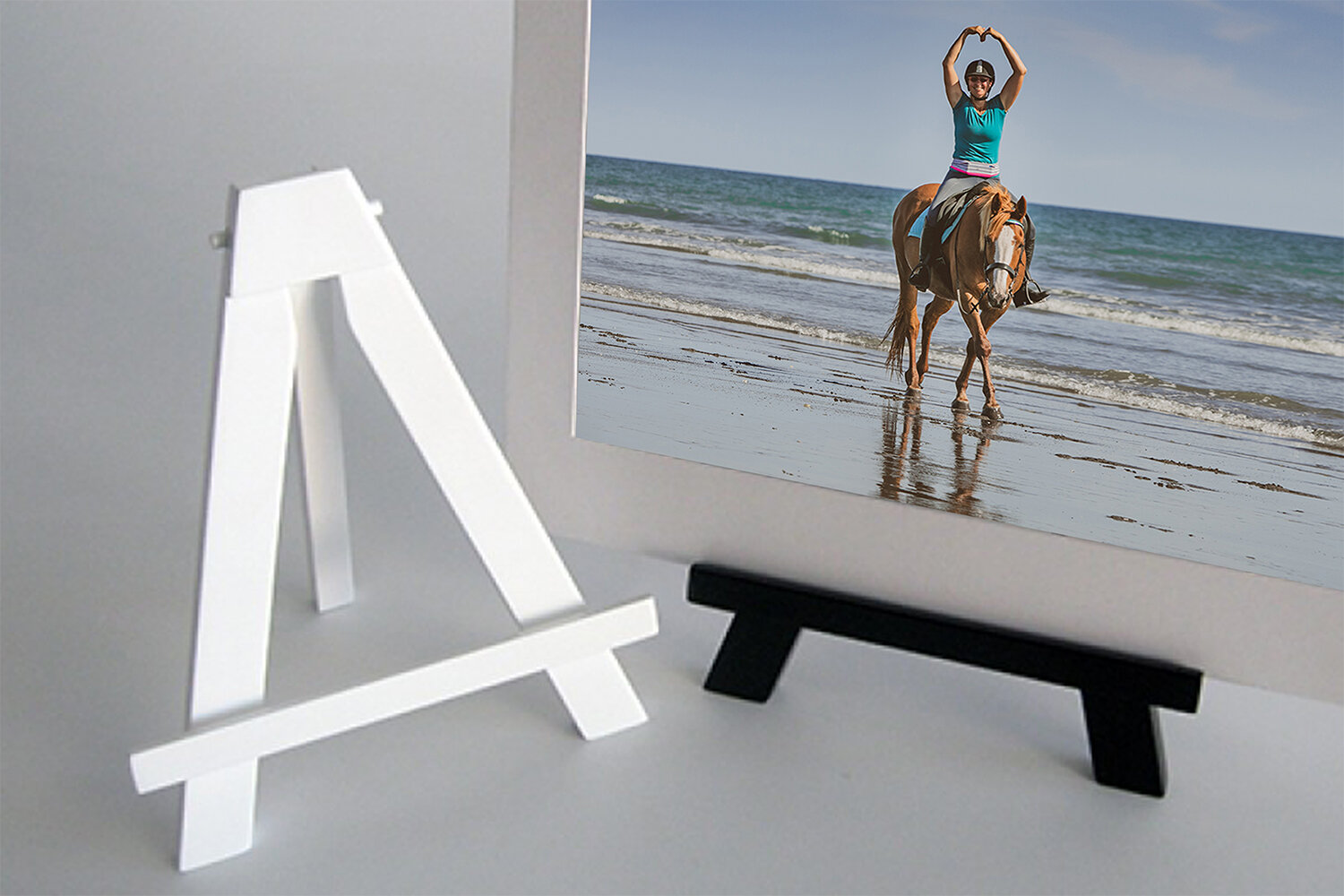 Easels - Our easels are absolutely stunning and are a perfect way to display your favourite fine art print sitting on a coffee table or mantelpiece. They are ideal for fine art prints matted to 8x10!Available in black and white.$125