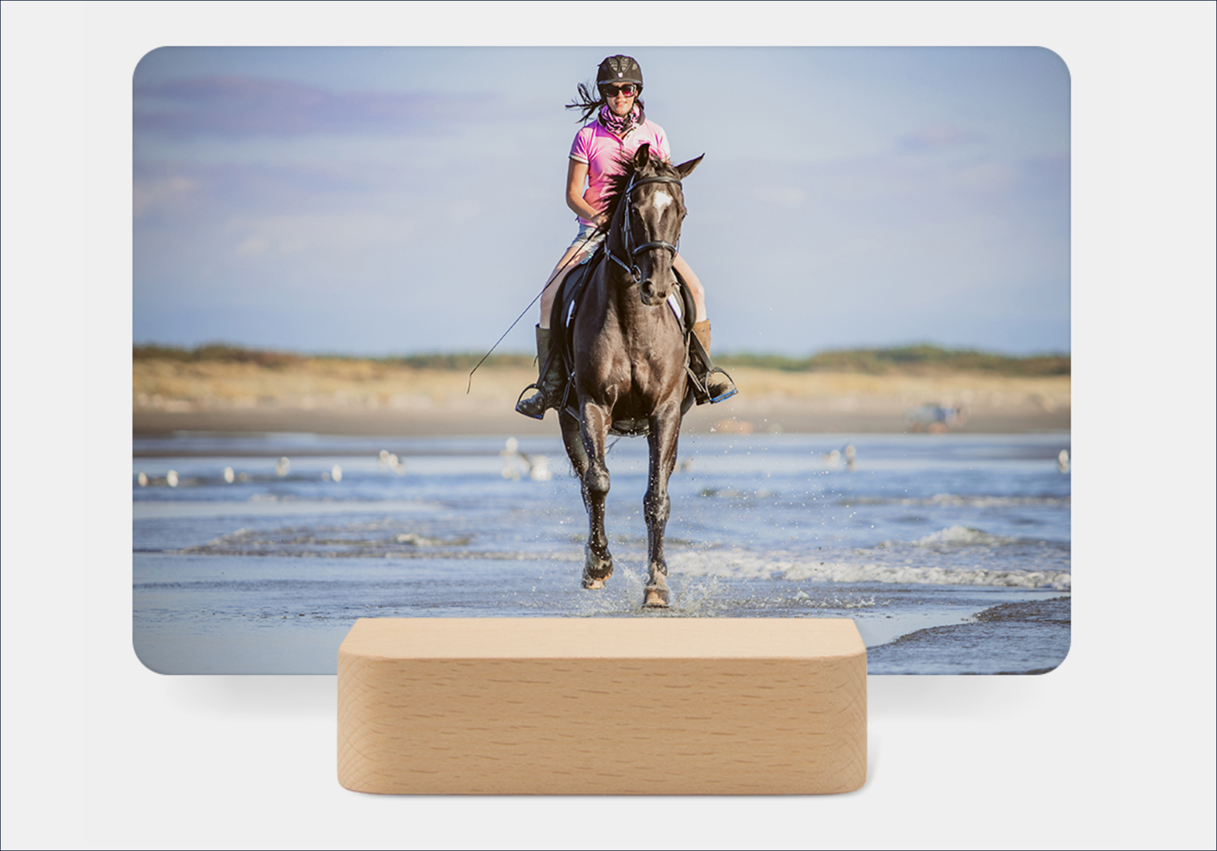Desktop Prints - This modern little stand holds 6 lustre cards with 12 photos printed on both sides. Instead of 1 photo per frame, you can rotate and add new photos! $175