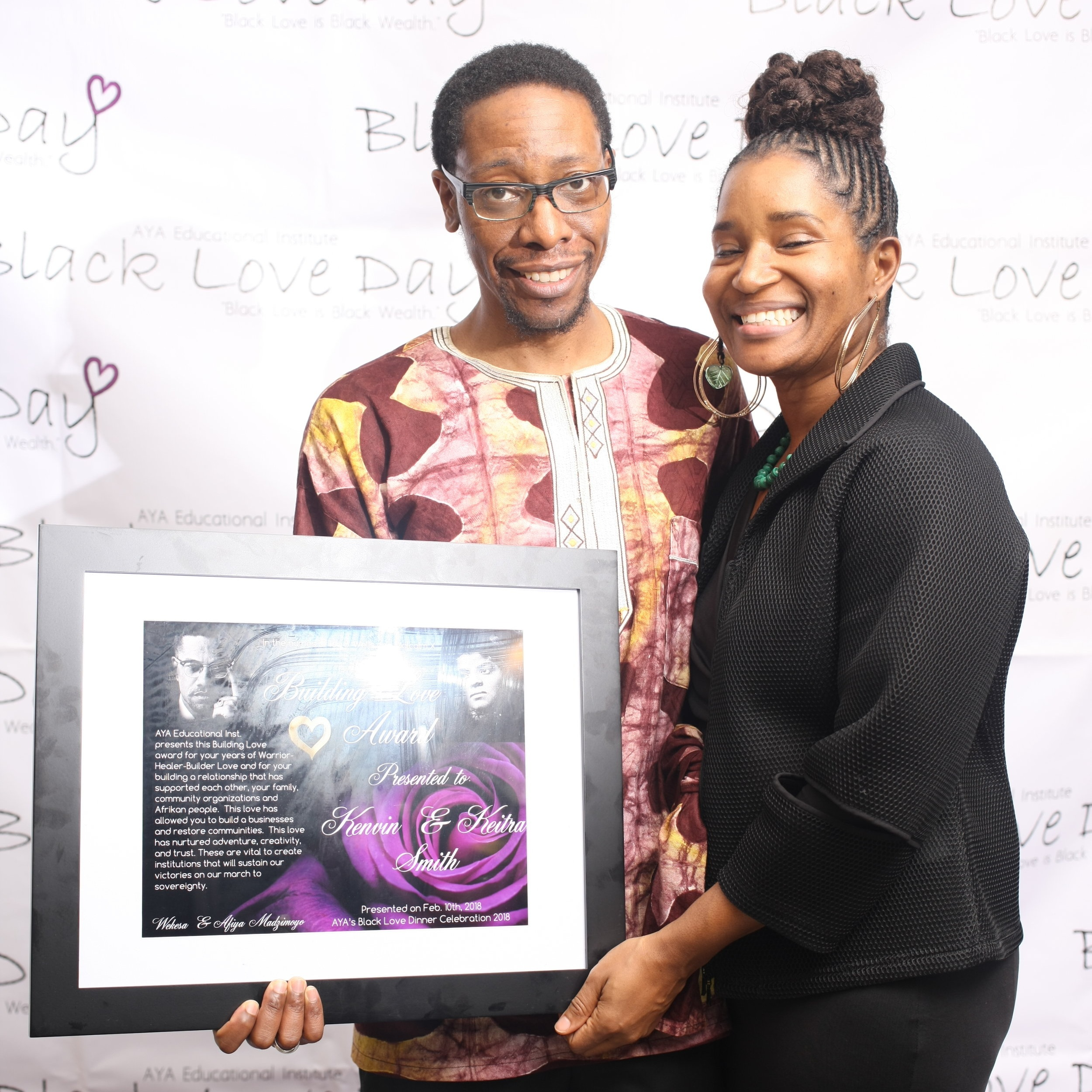 Building Love Honoree's Kevin and Keitra Bates