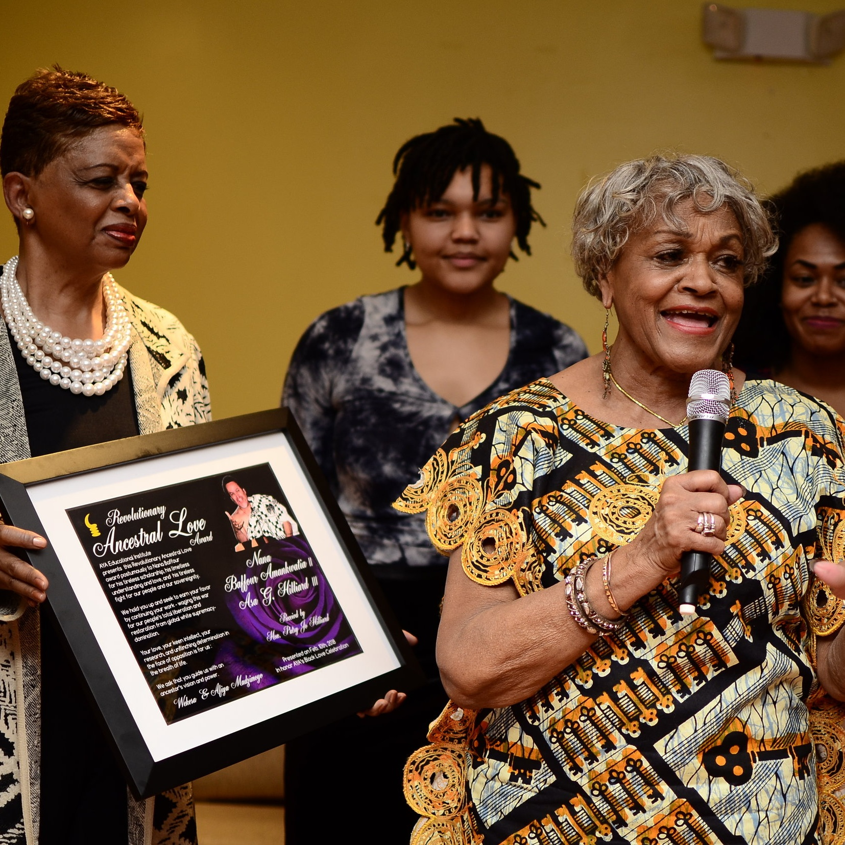 Ancestral Love Award - Asa Hilliard - Accepted by his Wife Patsy Jo Morrison Hilliard  and family.