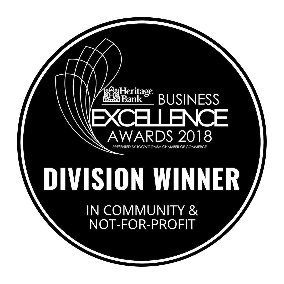 Toowoomba Clubhouse was proud to be named Division Winner in Community and Not-for-Profit for the Heritage Business Excellence awards in 2018.