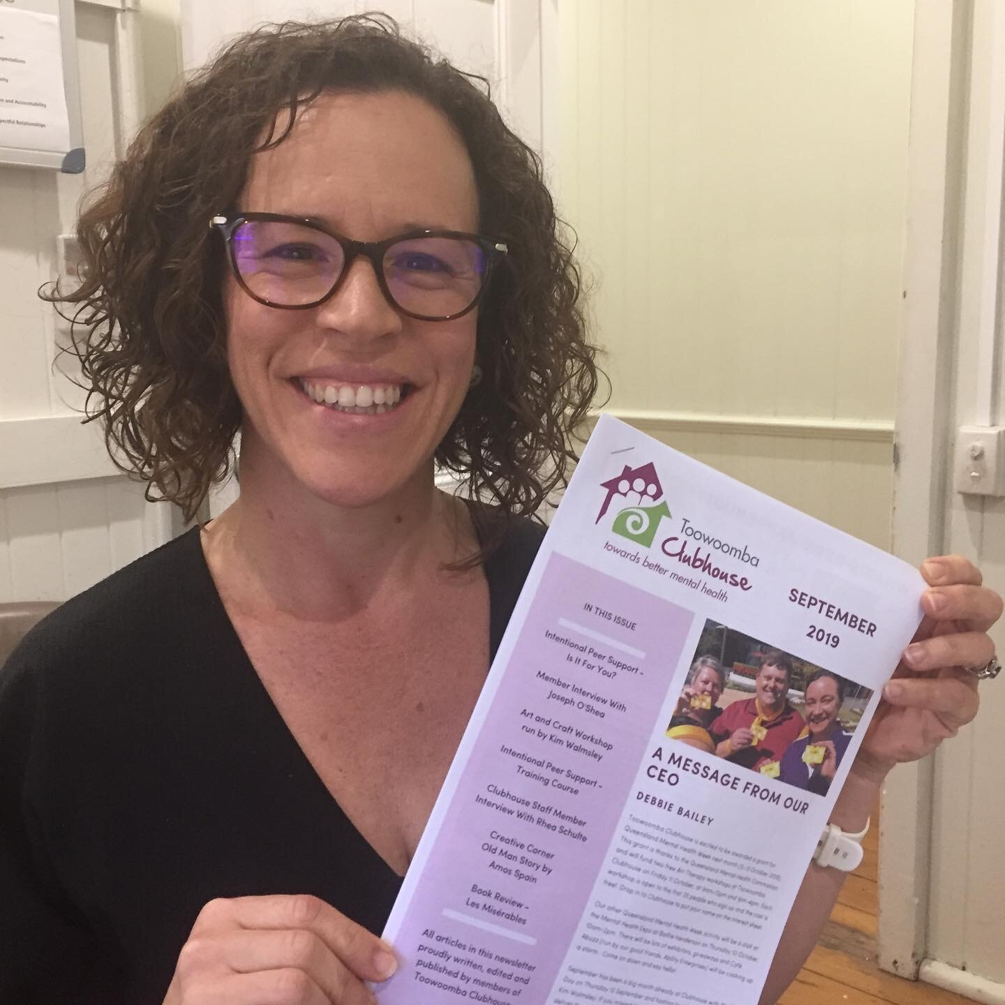 Team Leader Kylie showing off the September edition!