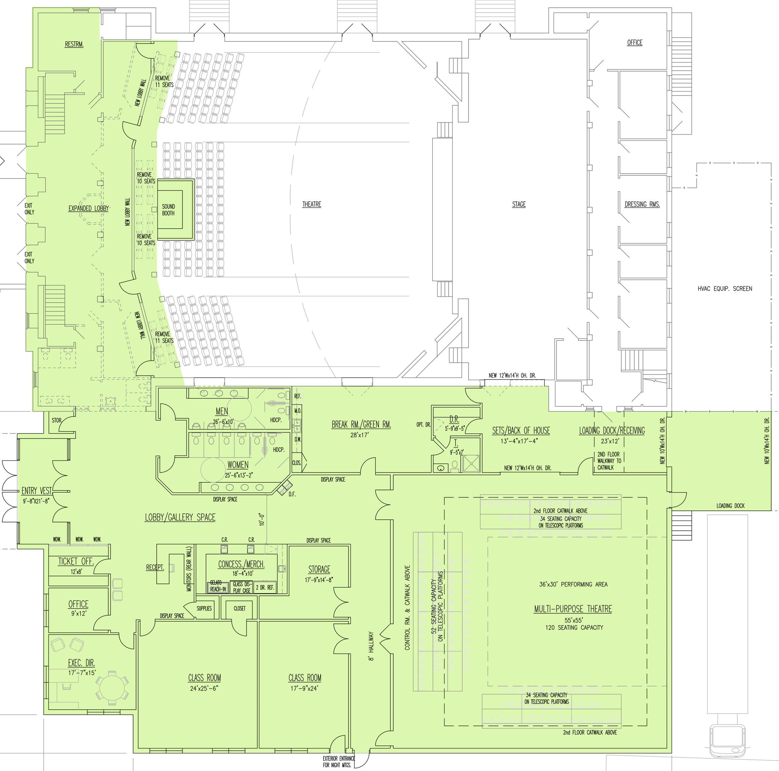 PAC Renovation Floor Plan