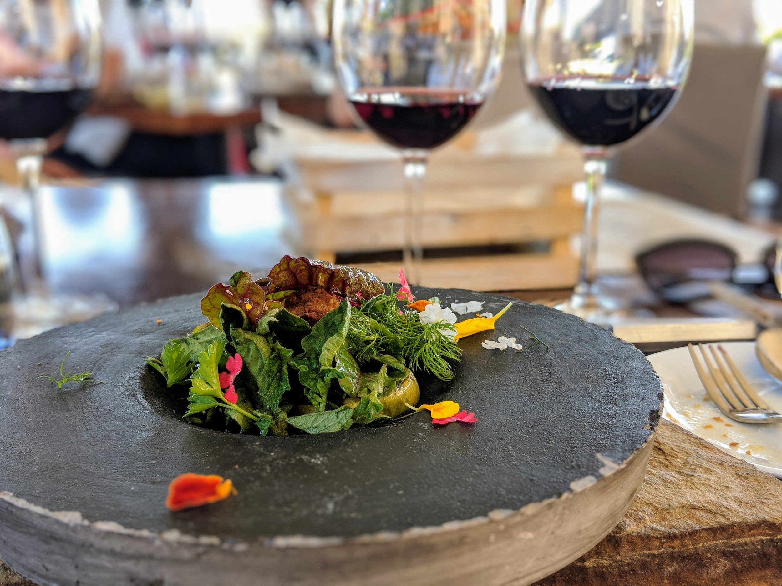 Guest Winery: Cadas Cabernet 2016 with stewed pork and seasonal vegetables