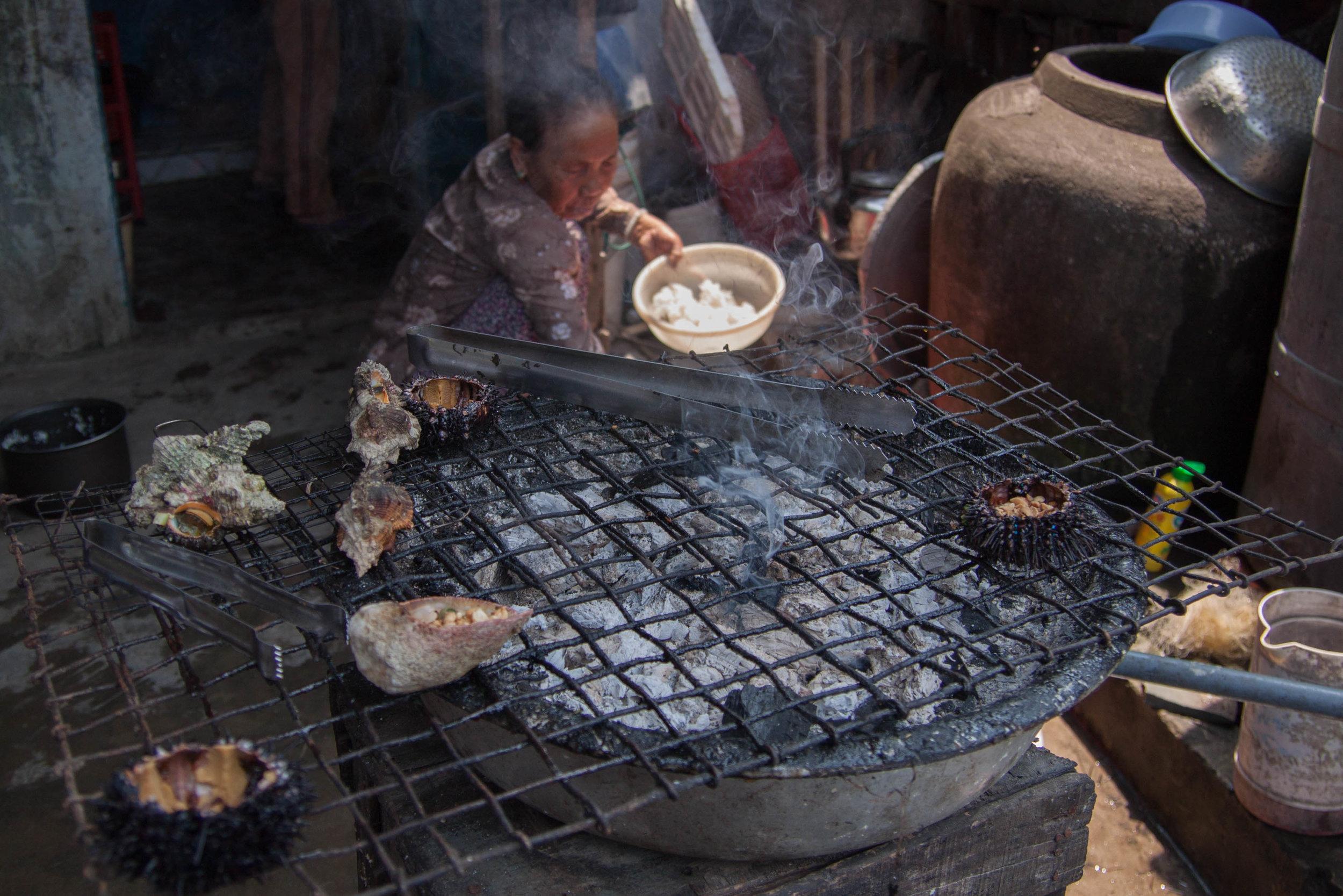 village grill - cham island, vietnam