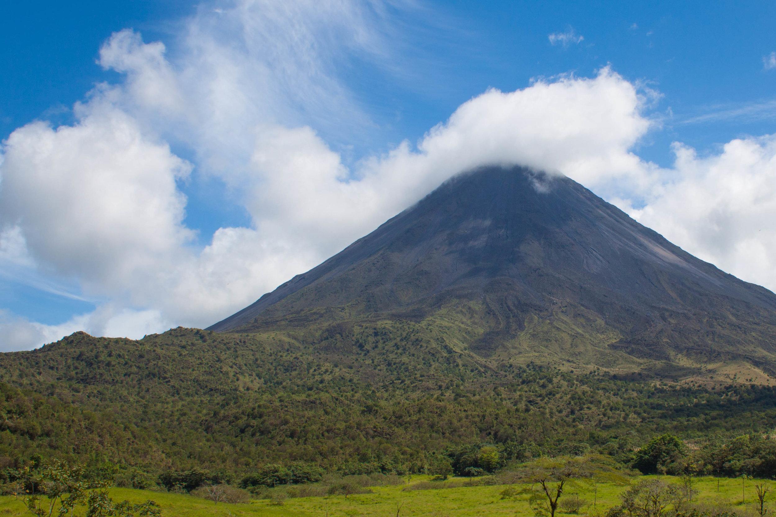 volcano clouds - arenal volcano, costa rica