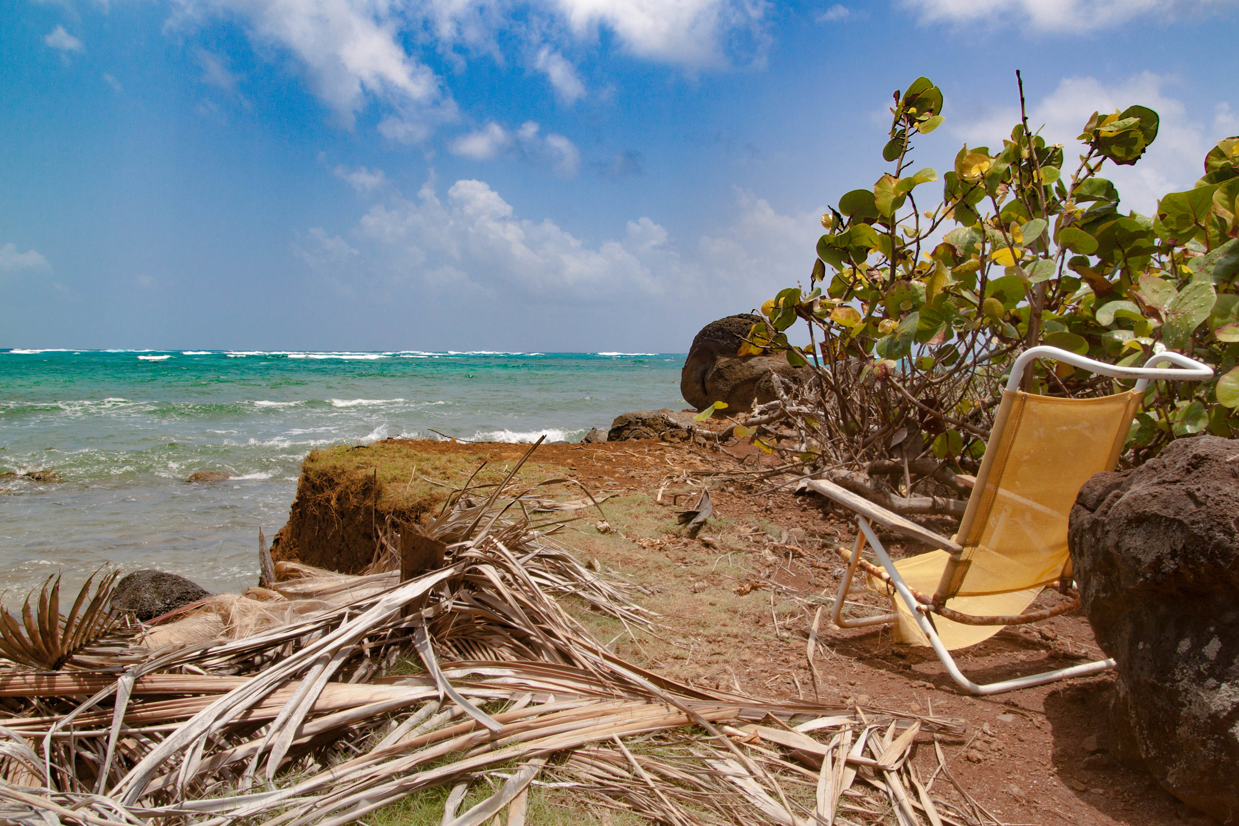 a view at the edge of the world - little corn island, nicaragua