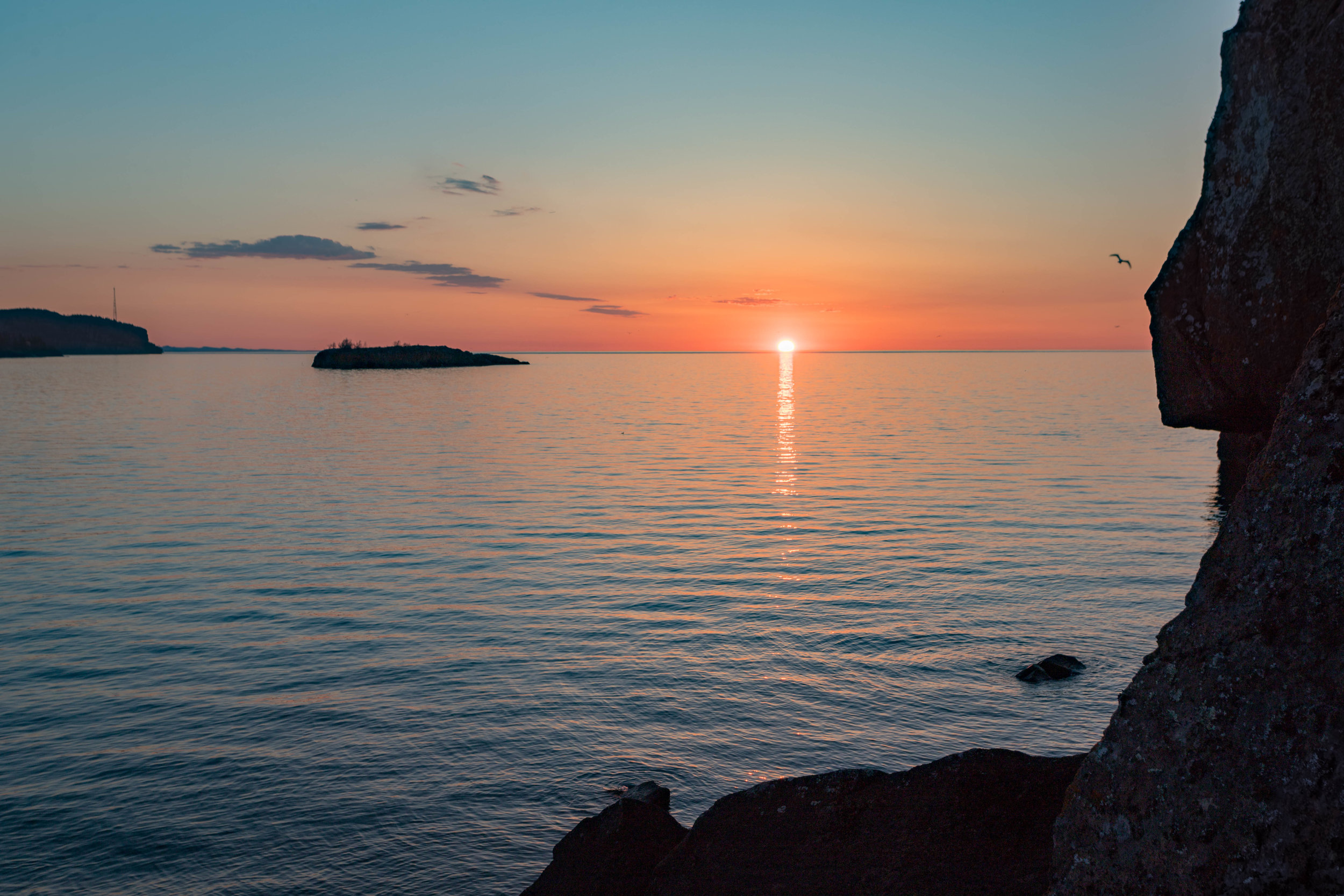 superior sunrise reflection - silver bay, minnesota   from US$15