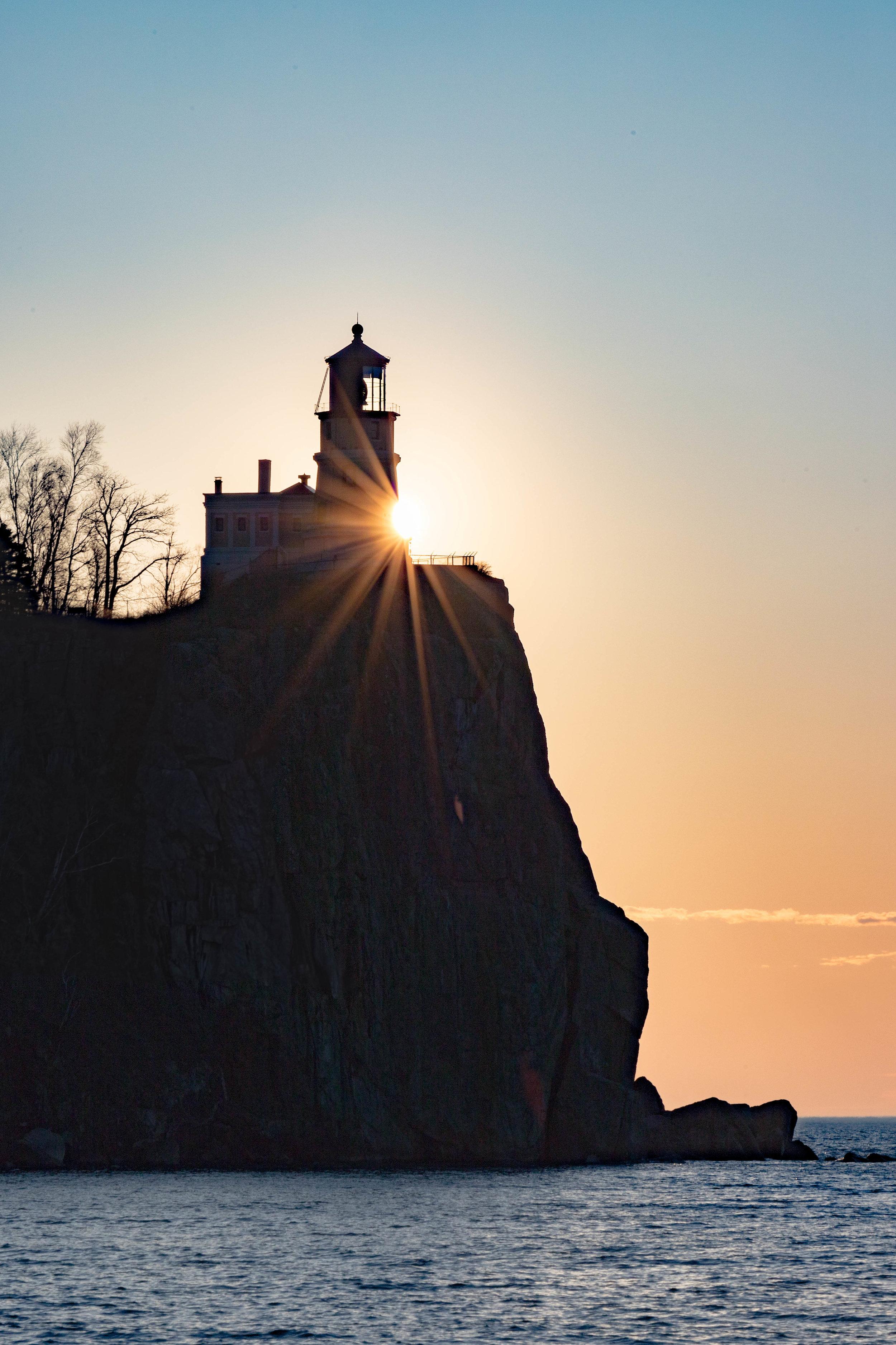 split rock sunrise - two harbors, minnesota   from US$15