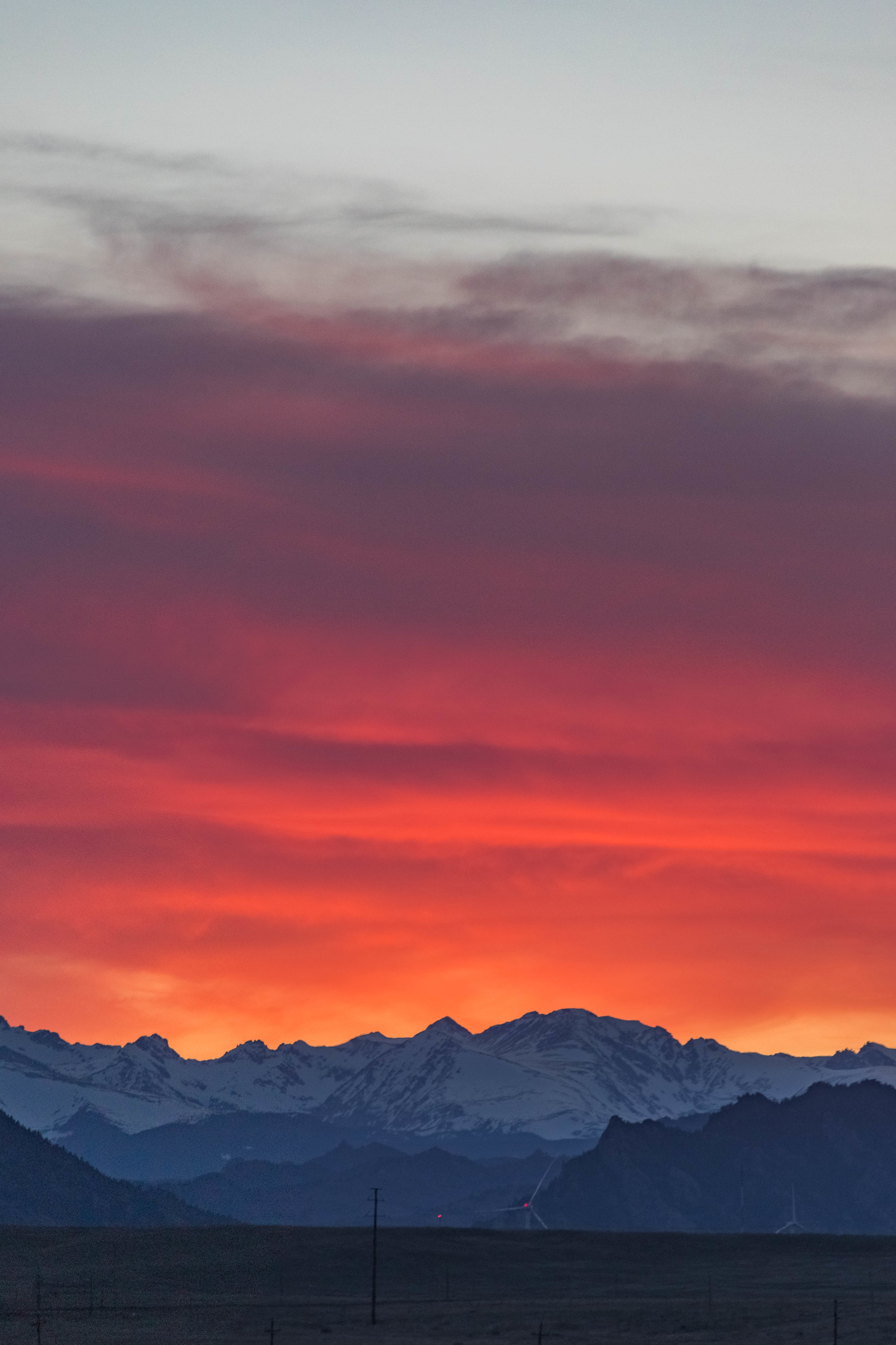 rocky mountain sunset - westminster, colorado   from US$15