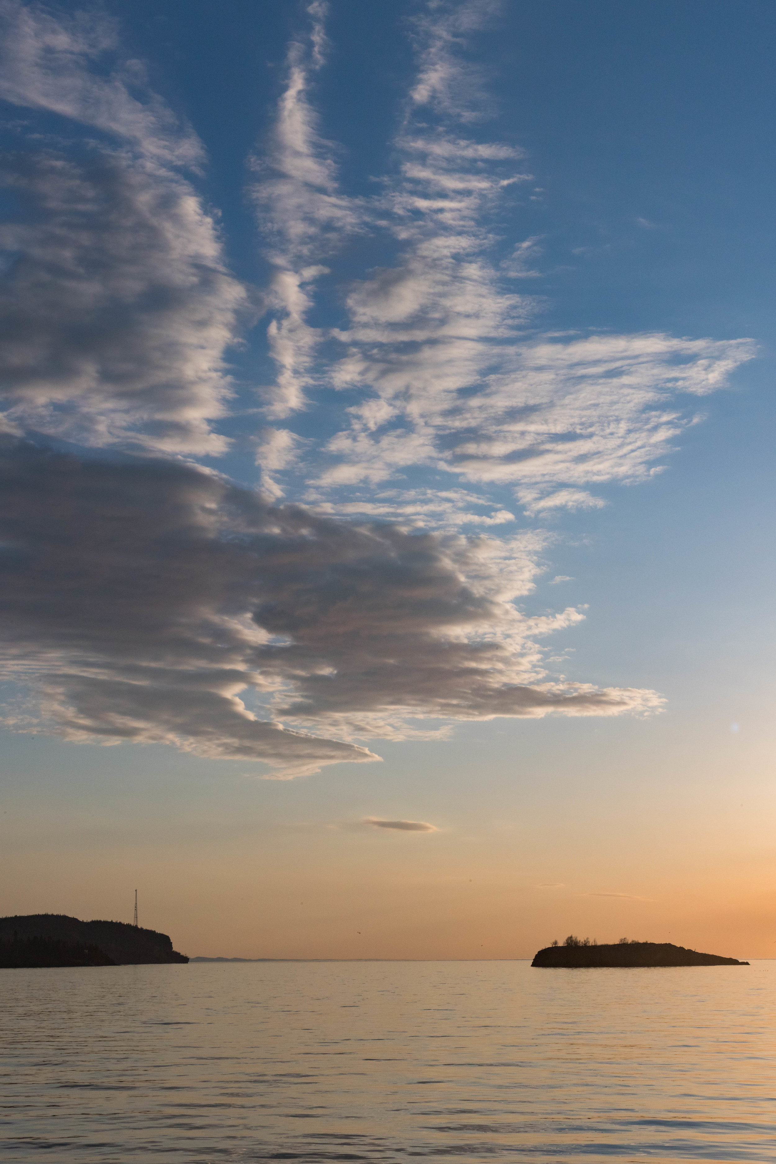 morning clouds over superior - silver bay, minnesota   from US$15