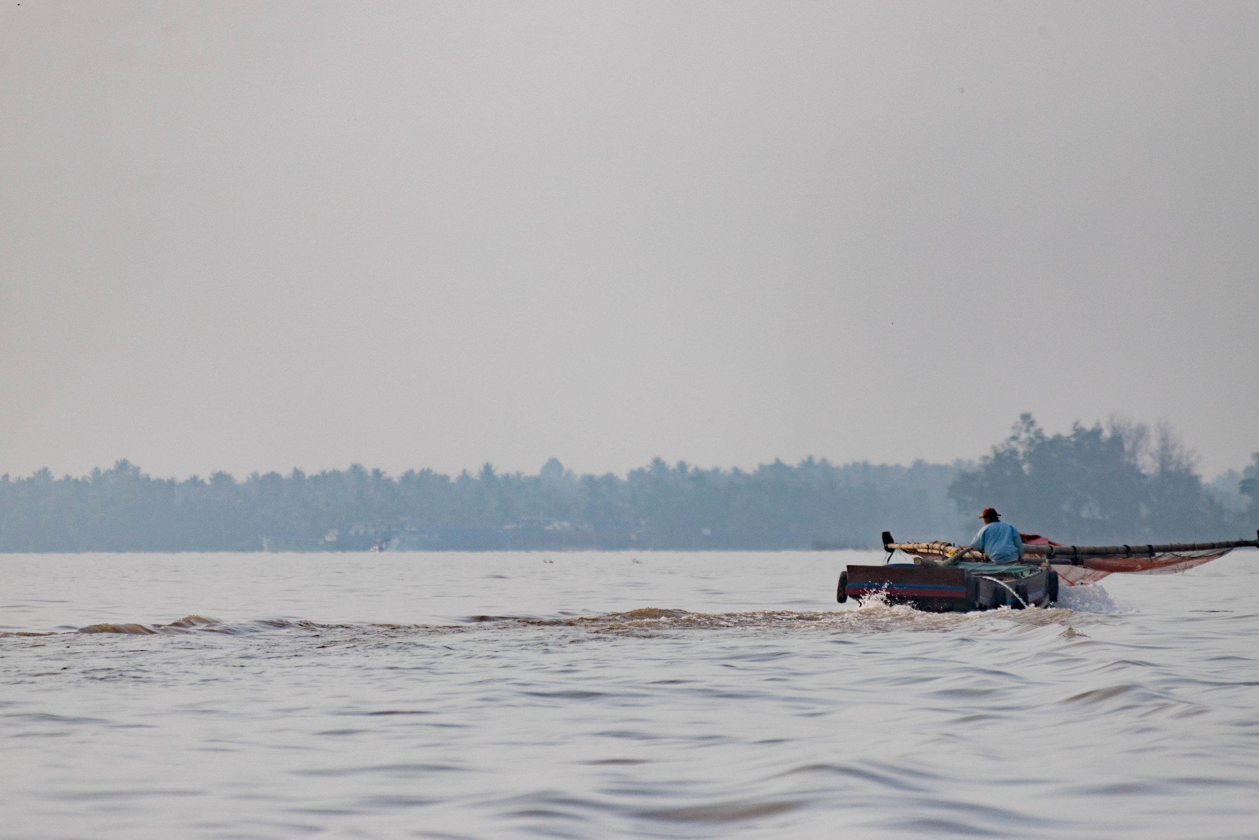mekong fisherman - my tho, vietnam