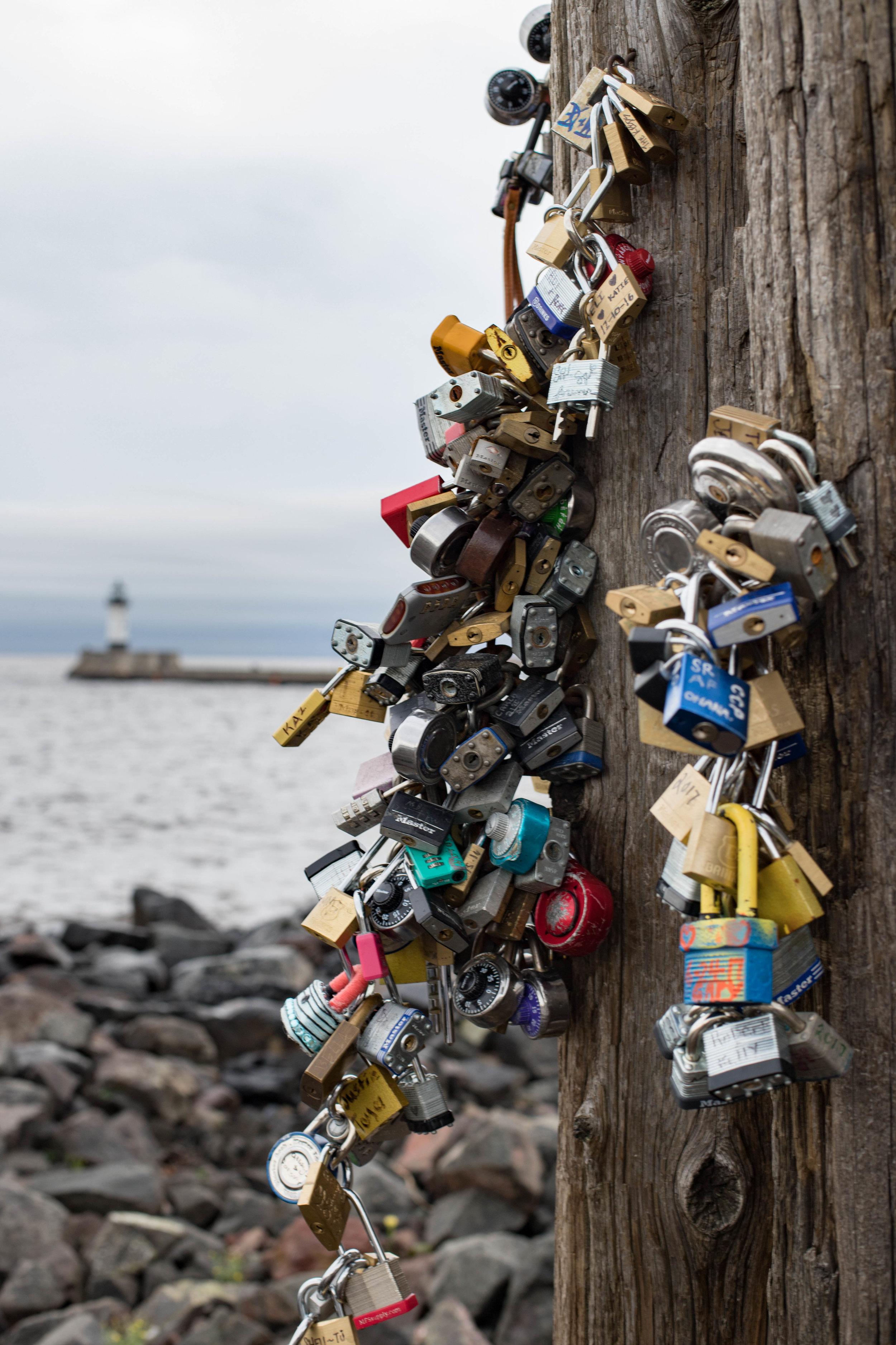 love locks - duluth