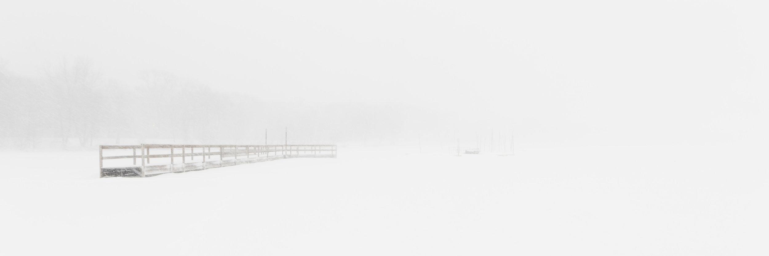 blizzard on the lake - minneapolis