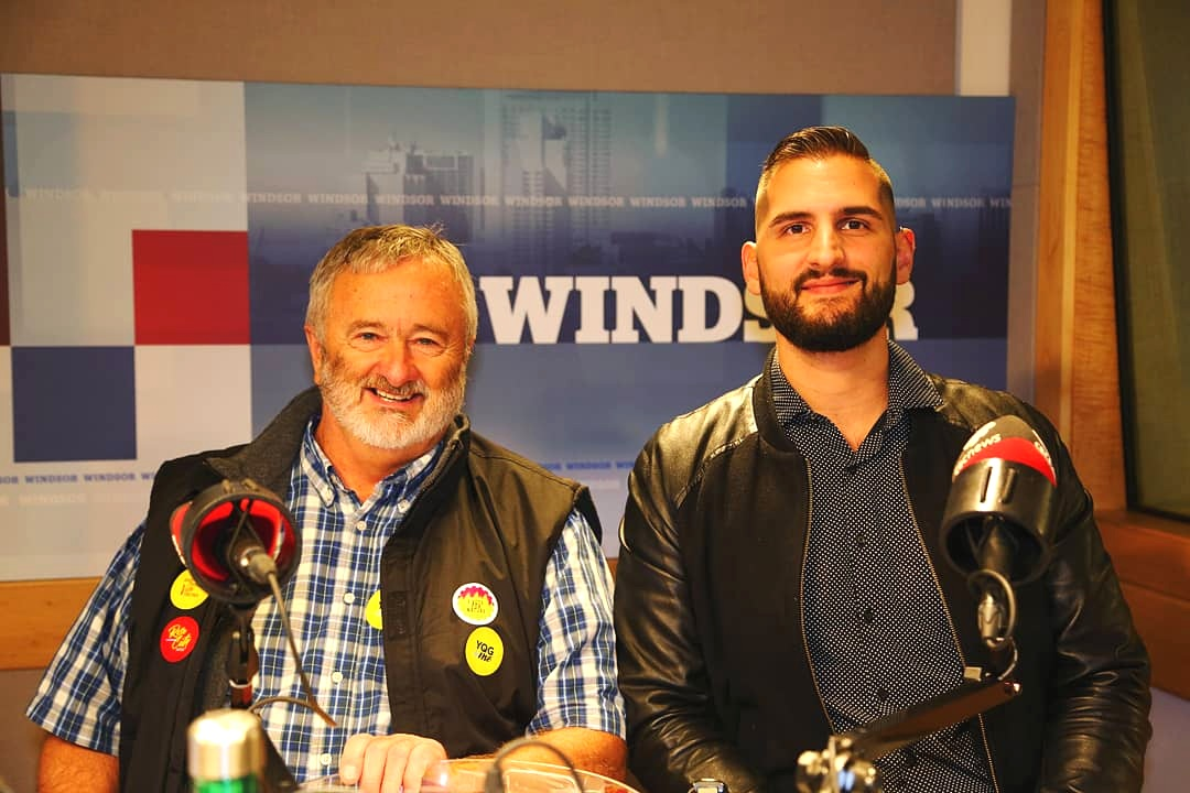 Neil and I at CBC Windsor Morning talking about our group  YQG + Me  and its involvement in the municipal election.