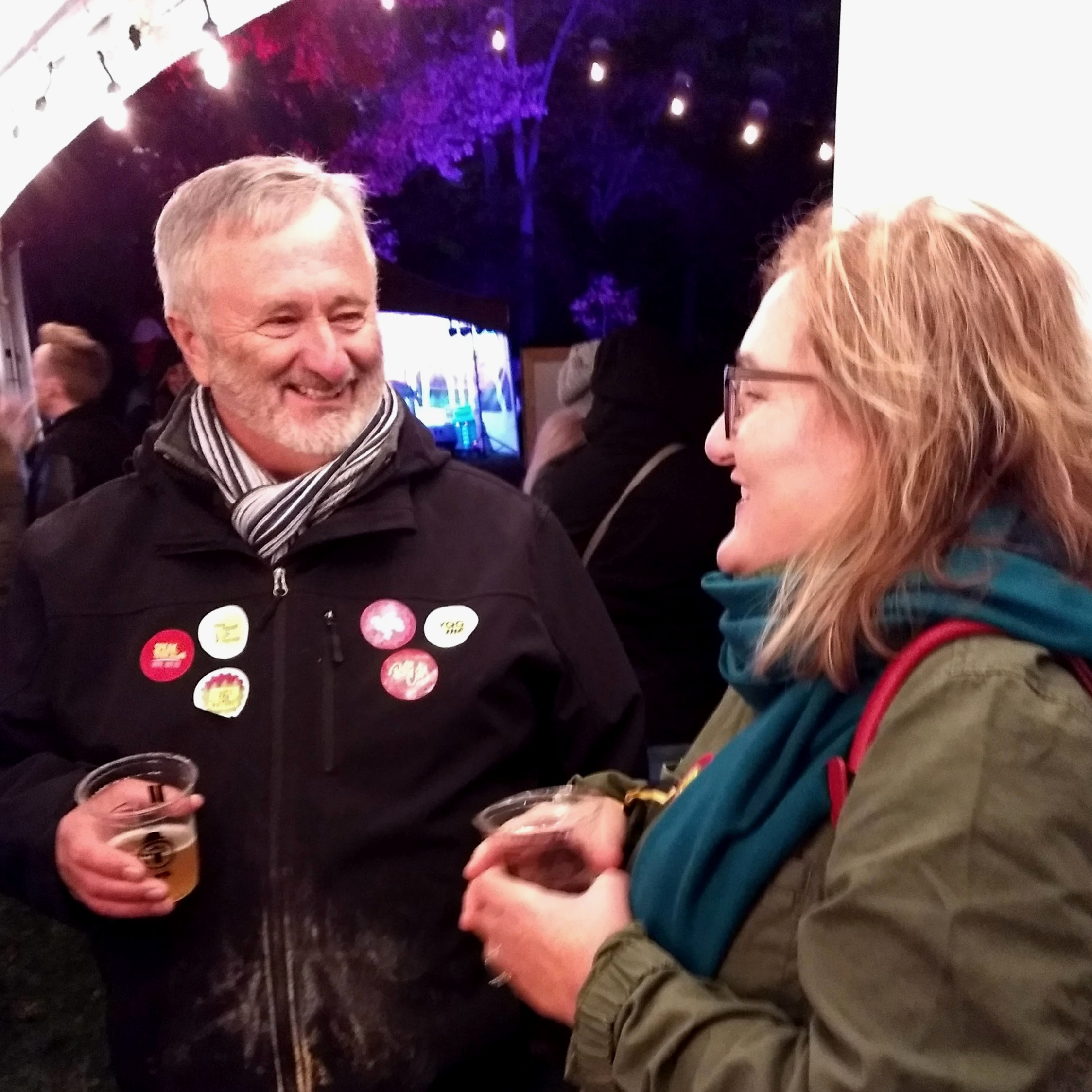 Neil seen promoting the voter series (with Angela Petrucci) at the Windsor Beer Festival hosted by WindsorEats.