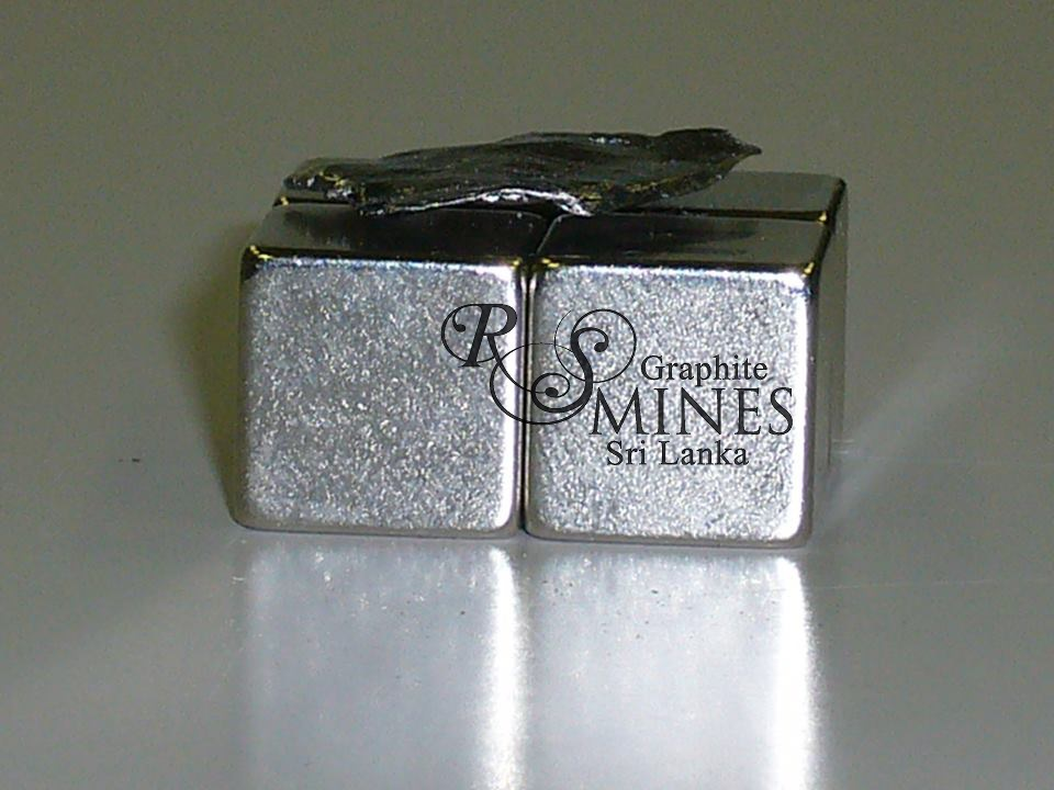 RS Mines, The Queen's Mines, natural Sri Lankan high carbon purity, crystalline vein graphite.