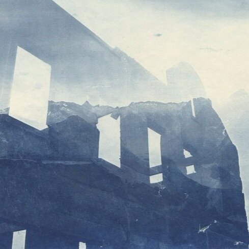 Cyanotype print from  Transitional Spaces,  2010. More images from this series can be viewed  here .