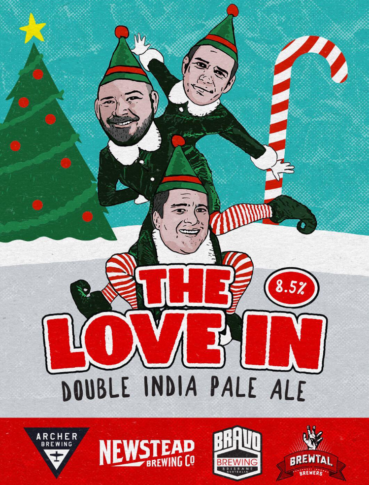 The Love InDouble IPA - THE STORY: The Love In is the first beer we've slapped our name on, and we couldn't be happier with it. The Love In is a nod to the brewers, past and present, of @newsteadbrewingco who have all stumbled into their own craft brewing ventures. On the logo from top to bottom: Gavin Croft @archerbrewing, Tim Goulding @brewtalbrewers, and our very own Jarrett Bravo.THE FLAVOUR PROFILE: A 8.5% Double India Pale Ale, this beer packs a dank punch.This beer is extra special because we used our favorite brand of malts, @voyager_craft_malt, and a variety of lupuLN2 powders. This powder is not just science-y sounding, it's also a brewer's dream because it provides twice the concentration of hoppiness versus regular hop pellets. After all, it is a double IPA.