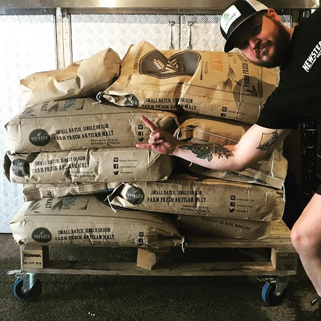 Getting ready for next weeks  @brewsvegas collab with @brewtalbrewers in preparation for Journey to the Maltiverse @oi.mongrel on 18/3. Tickets available at www.brewsvegas.com @voyager_craft_malt #brisbanecraftbeer #voyagercraftmalt #australiancraftbeer #independantbrewery #brisbane
