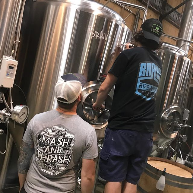 Brewing up a storm today with @brewtalbrewers. East Coast Rye IPA using amazing malt from @voyager_craft_malt. Hitting taps at @oi.mongrel for Journey to the Maltiverse during @brewsvegas. Cheers to @newsteadbrewingco for the tank space #brisbanecraftbeer #australiancraftbeer #independantbrewery
