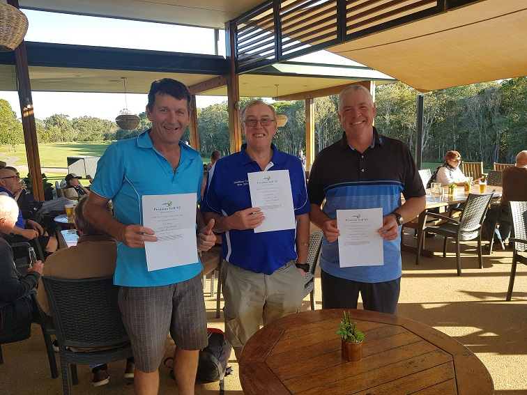 TOUR GOLF COMPETITION WINNERS WITH PGNZ GOLF TRAVEL VOUCHER PRIZES
